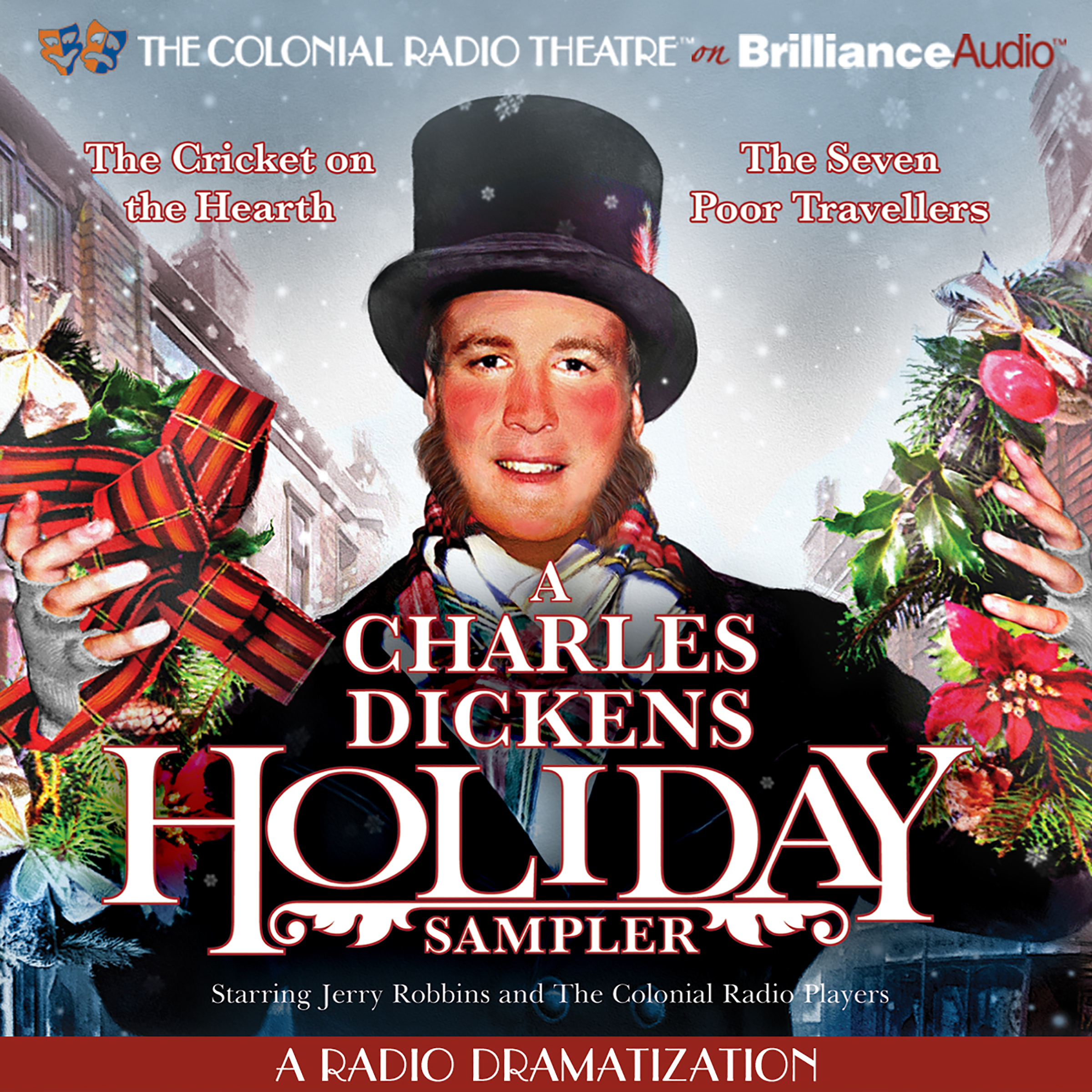 Printable A Charles Dickens Holiday Sampler: A Radio Dramatization Audiobook Cover Art