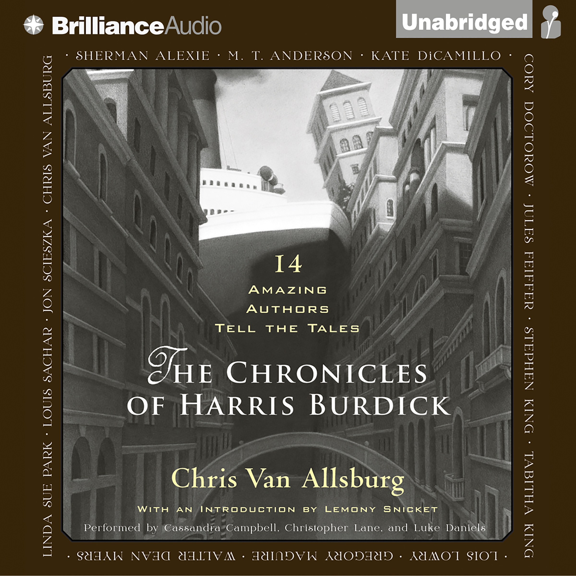Printable The Chronicles of Harris Burdick: Fourteen Amazing Authors Tell the Tales / With an Introduction by Lemony Snicket Audiobook Cover Art