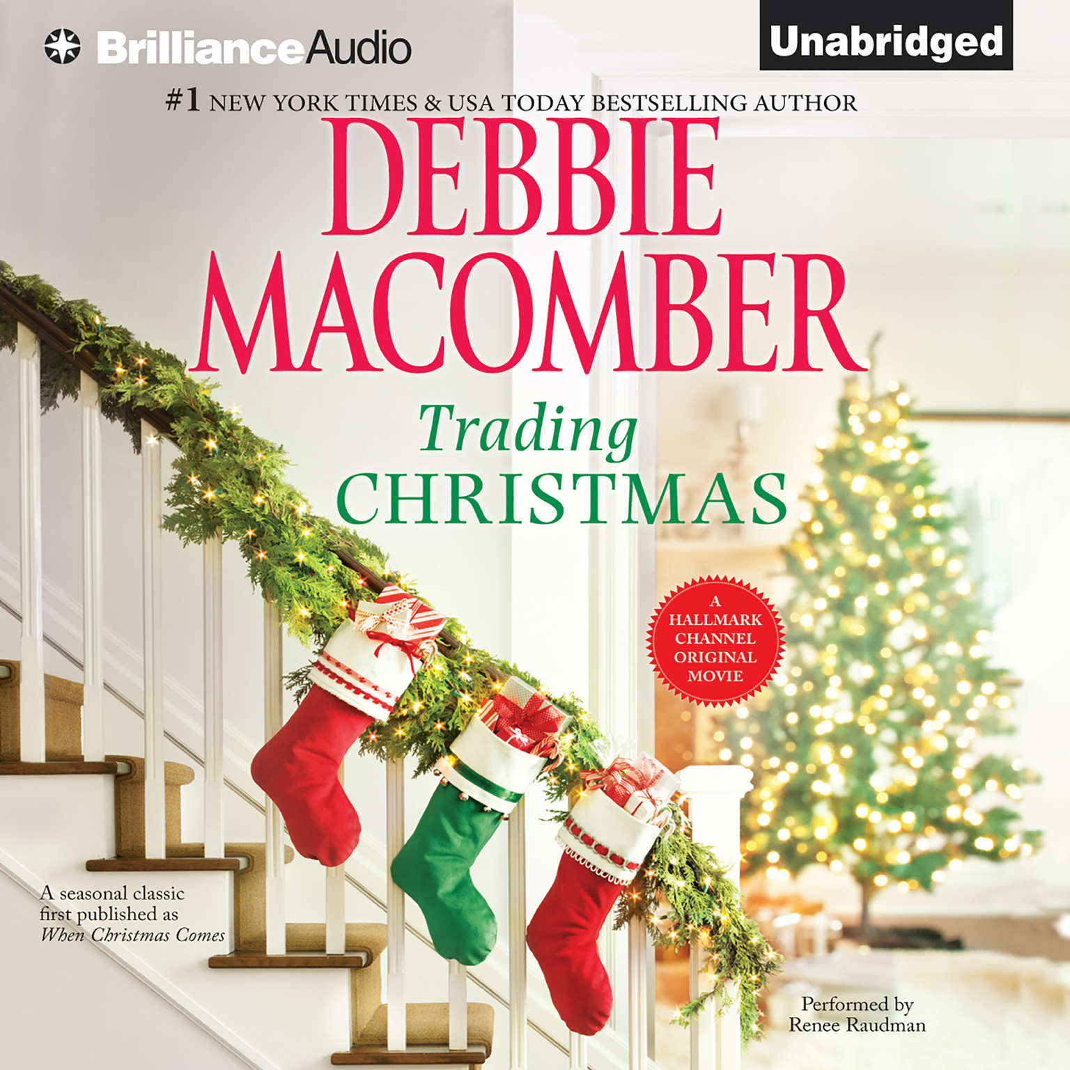 Printable Trading Christmas Audiobook Cover Art