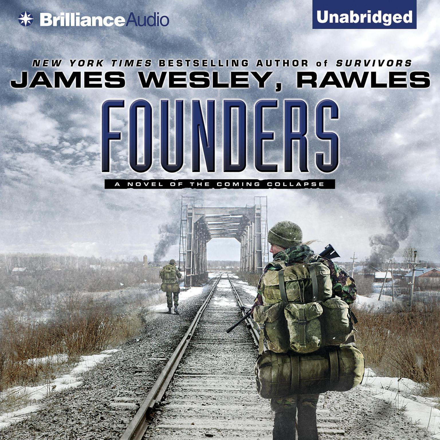 Printable Founders: A Novel of the Coming Collapse Audiobook Cover Art
