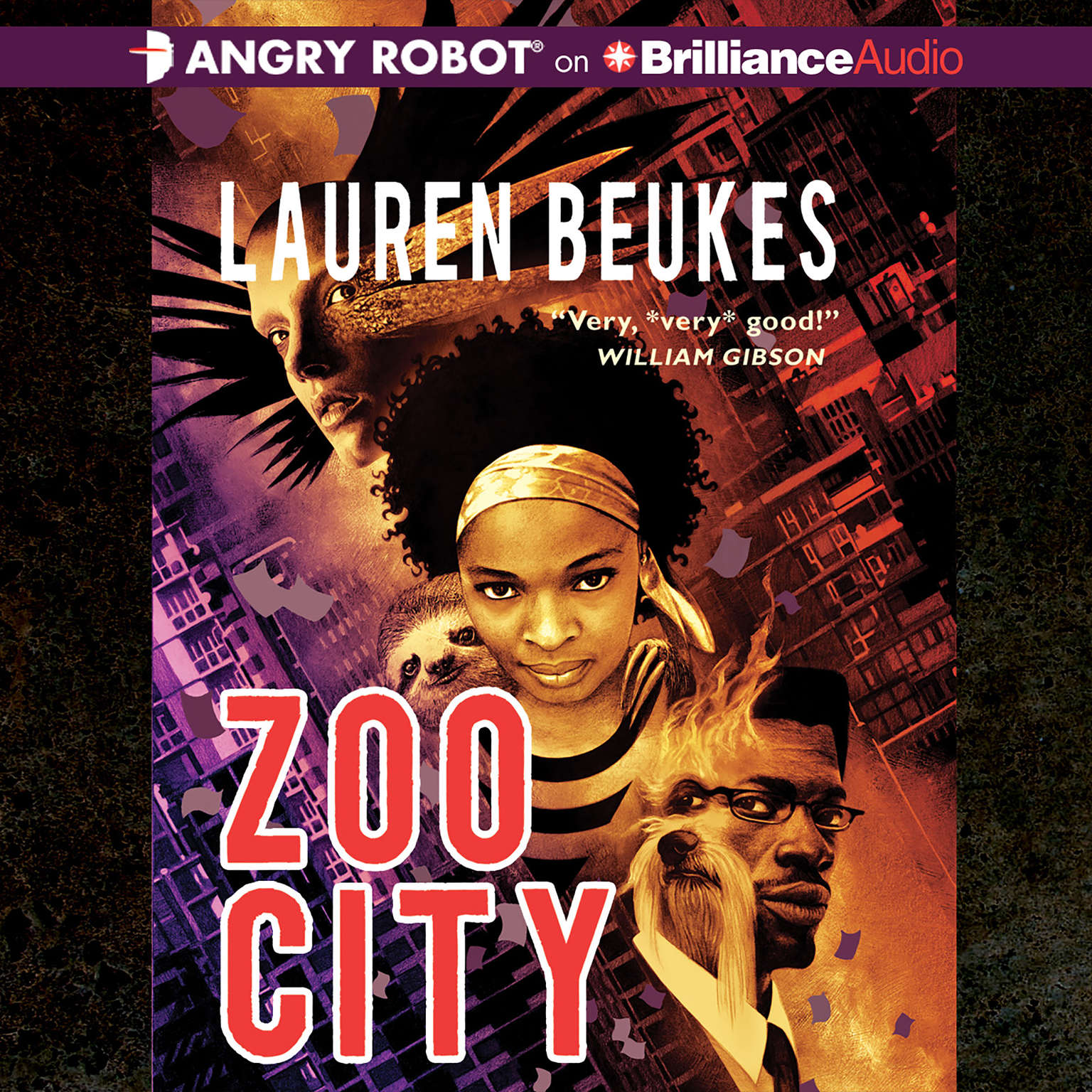 Printable Zoo City Audiobook Cover Art