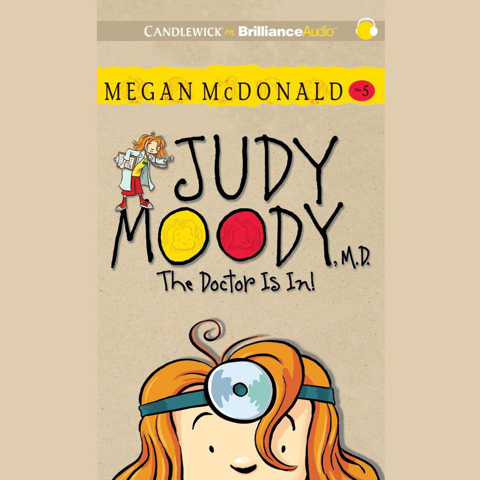 Printable Judy Moody, M.D. (Book #5): The Doctor Is In! Audiobook Cover Art