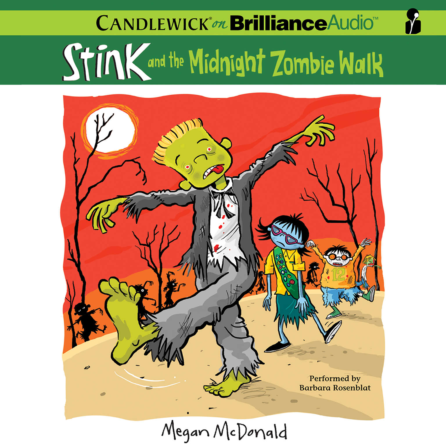 Printable Stink and the Midnight Zombie Walk Audiobook Cover Art