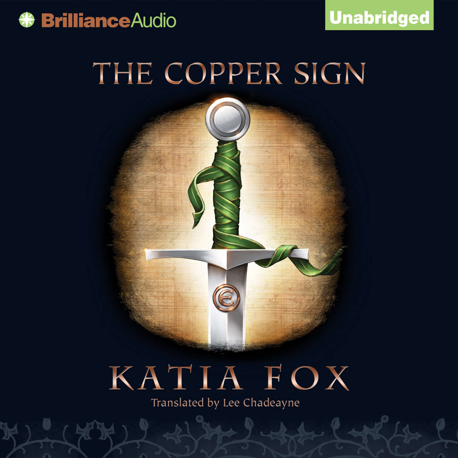 Printable The Copper Sign Audiobook Cover Art