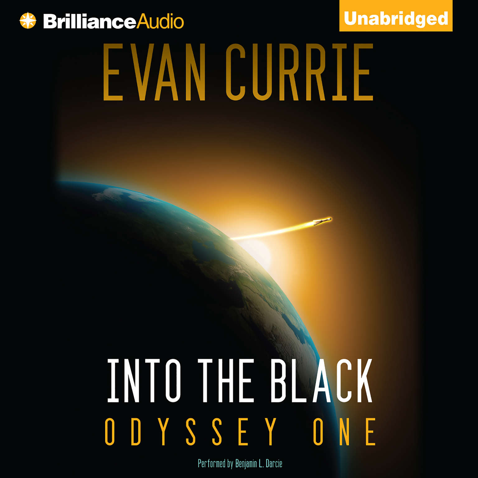 Printable Into the Black: Odyssey One Audiobook Cover Art