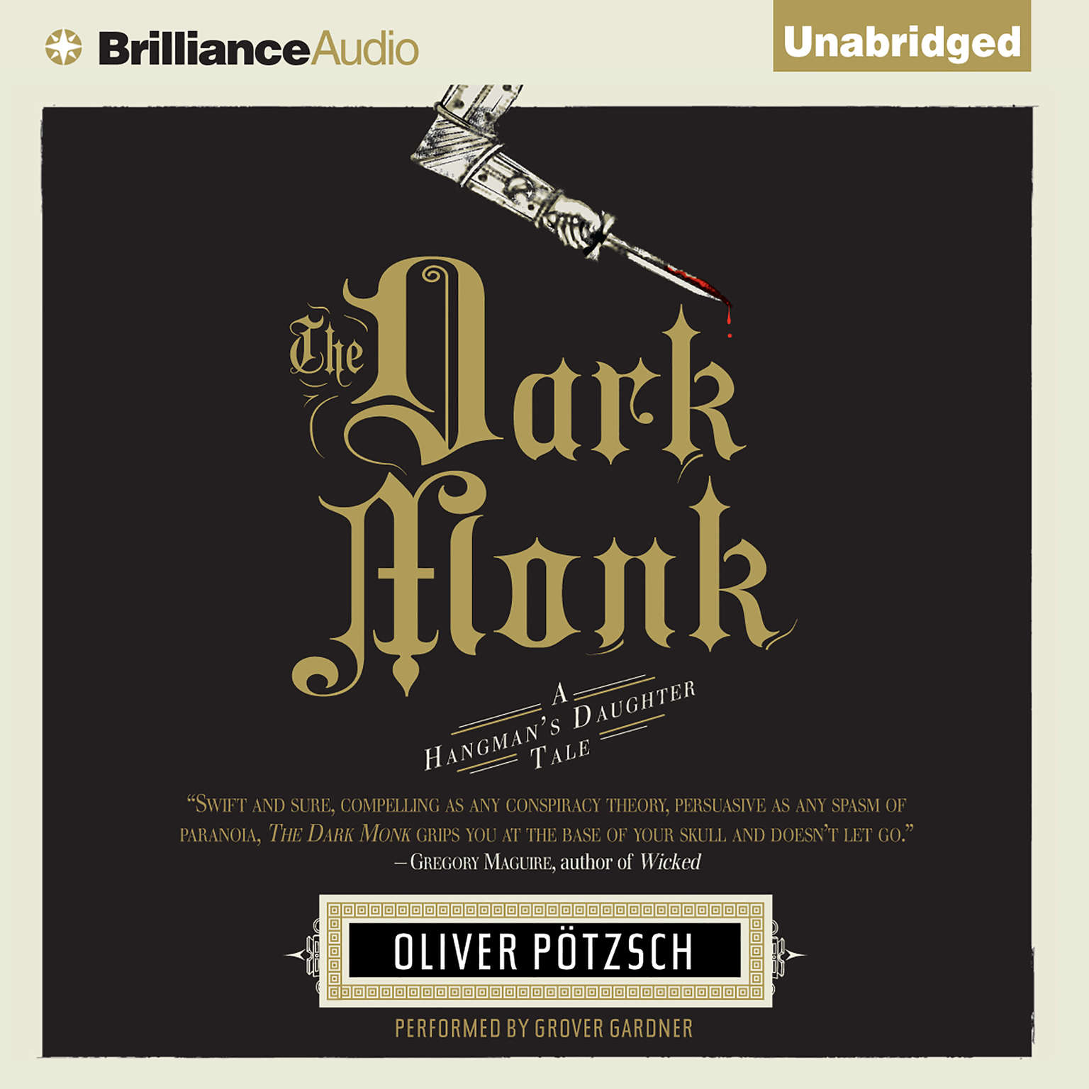 Printable The Dark Monk Audiobook Cover Art