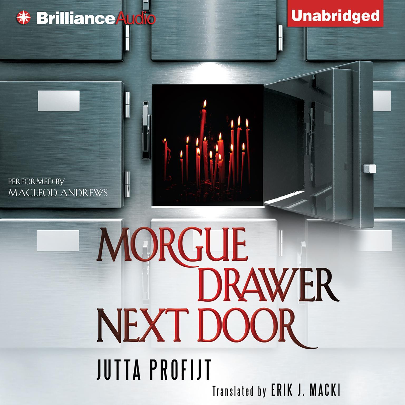 Printable Morgue Drawer Next Door Audiobook Cover Art
