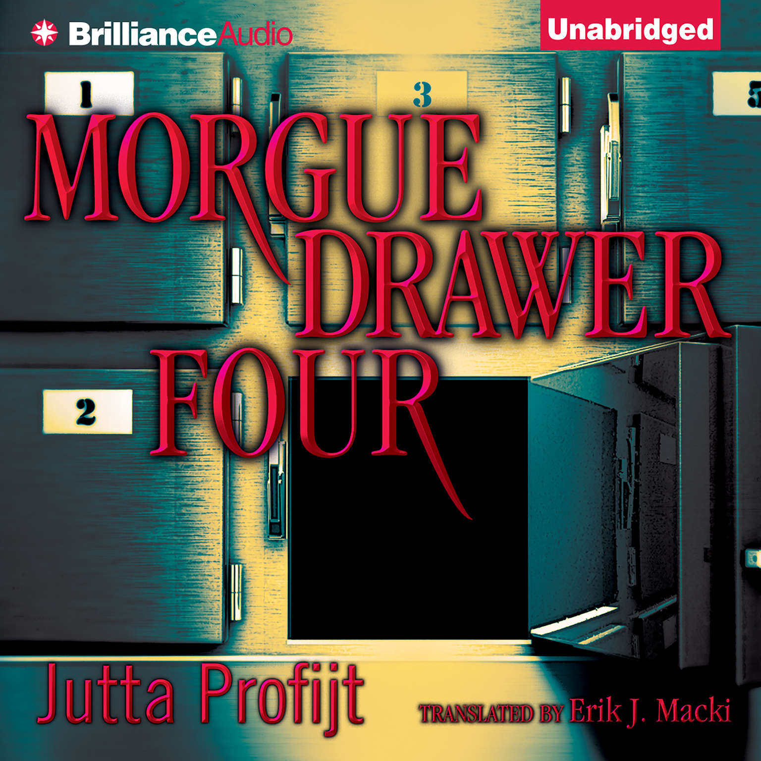 Printable Morgue Drawer Four Audiobook Cover Art