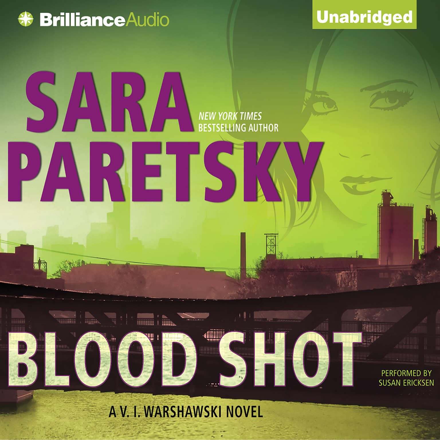 Printable Blood Shot Audiobook Cover Art