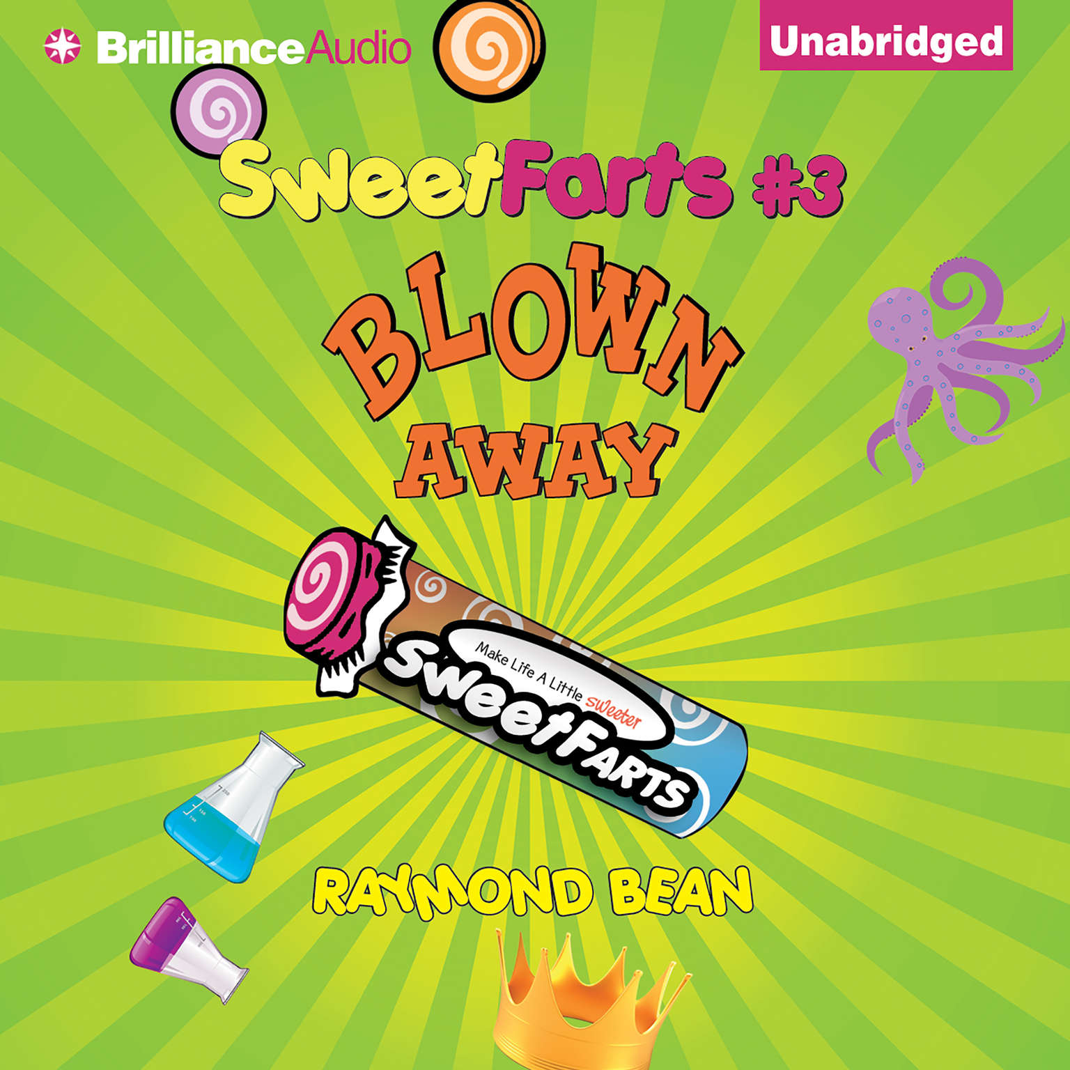 Printable Sweet Farts #3: Blown Away Audiobook Cover Art
