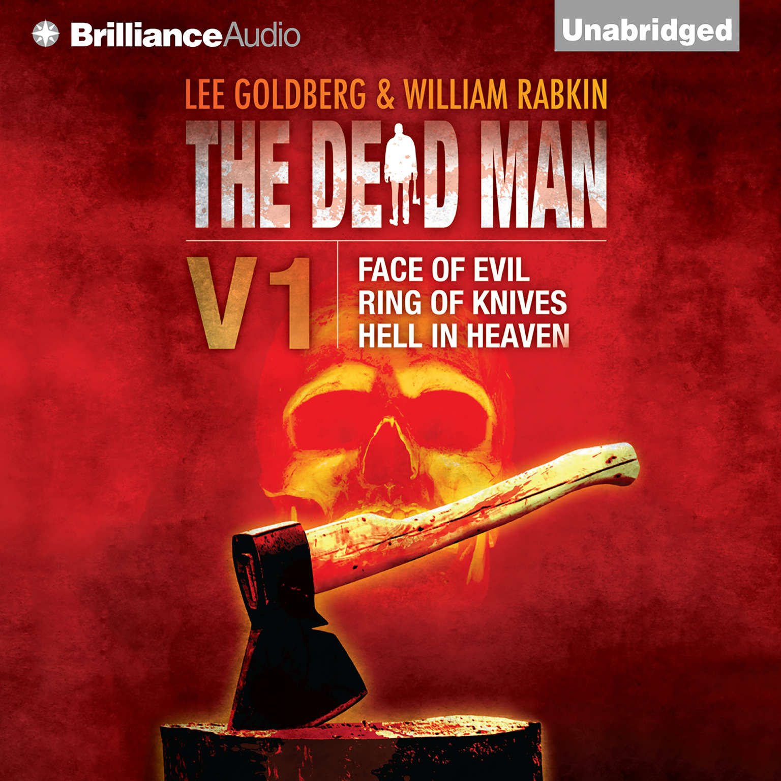 Printable The Dead Man, Vol. 1: Face of Evil, Ring of Knives, Hell in Heaven Audiobook Cover Art