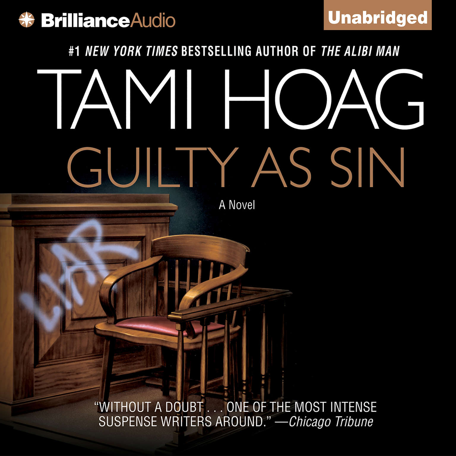 Printable Guilty as Sin Audiobook Cover Art