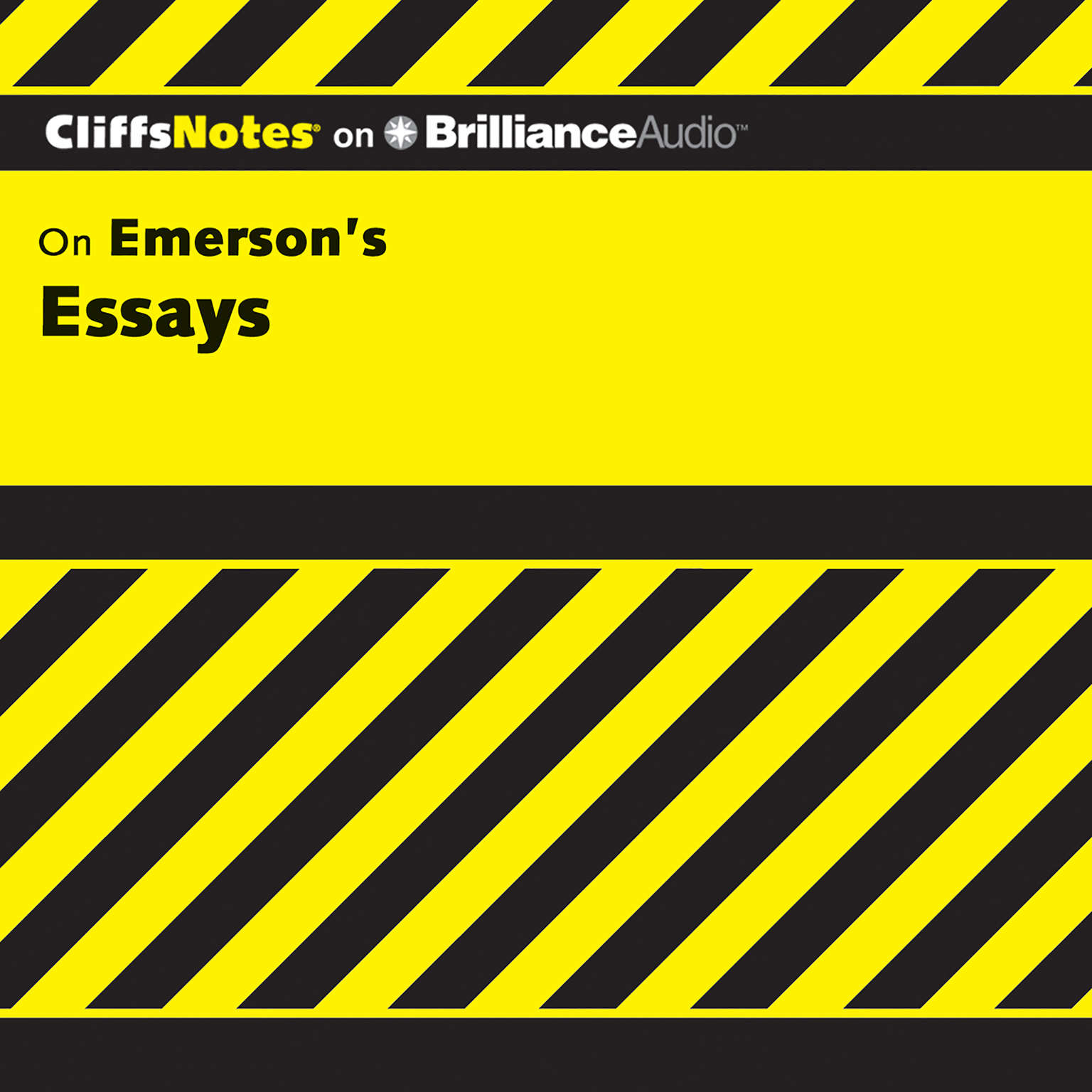 Printable On Emerson's Essays Audiobook Cover Art