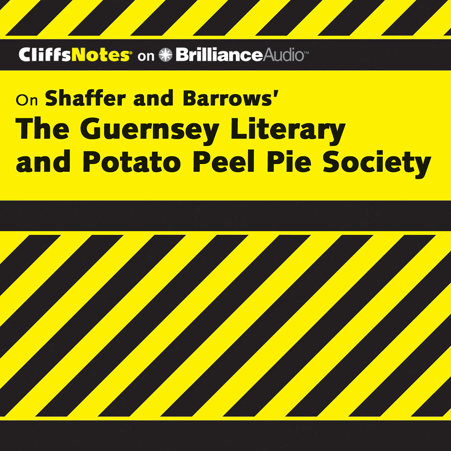 Printable On Shaffer and Barrows' The Guernsey Literary and Potato Peel Pie Society Audiobook Cover Art