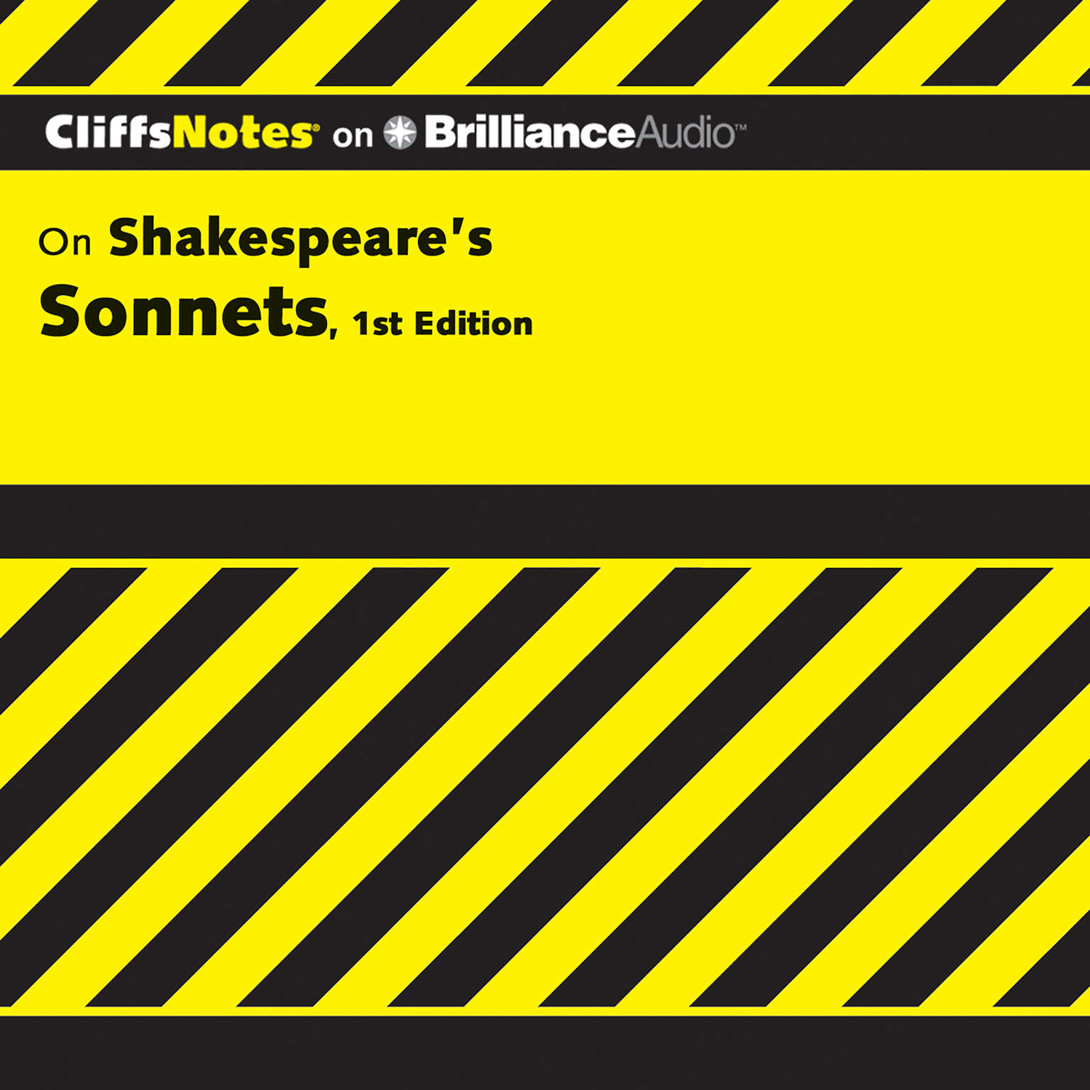 Printable On Shakespeare's Sonnets, 1st Edition Audiobook Cover Art