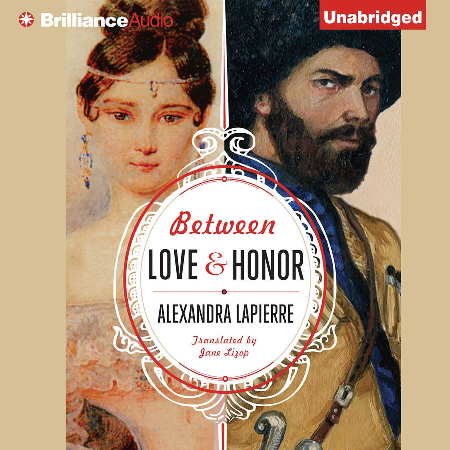 Printable Between Love and Honor Audiobook Cover Art