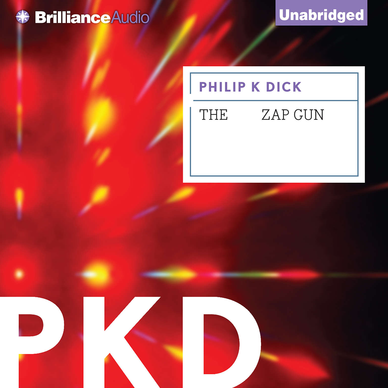 Printable The Zap Gun Audiobook Cover Art