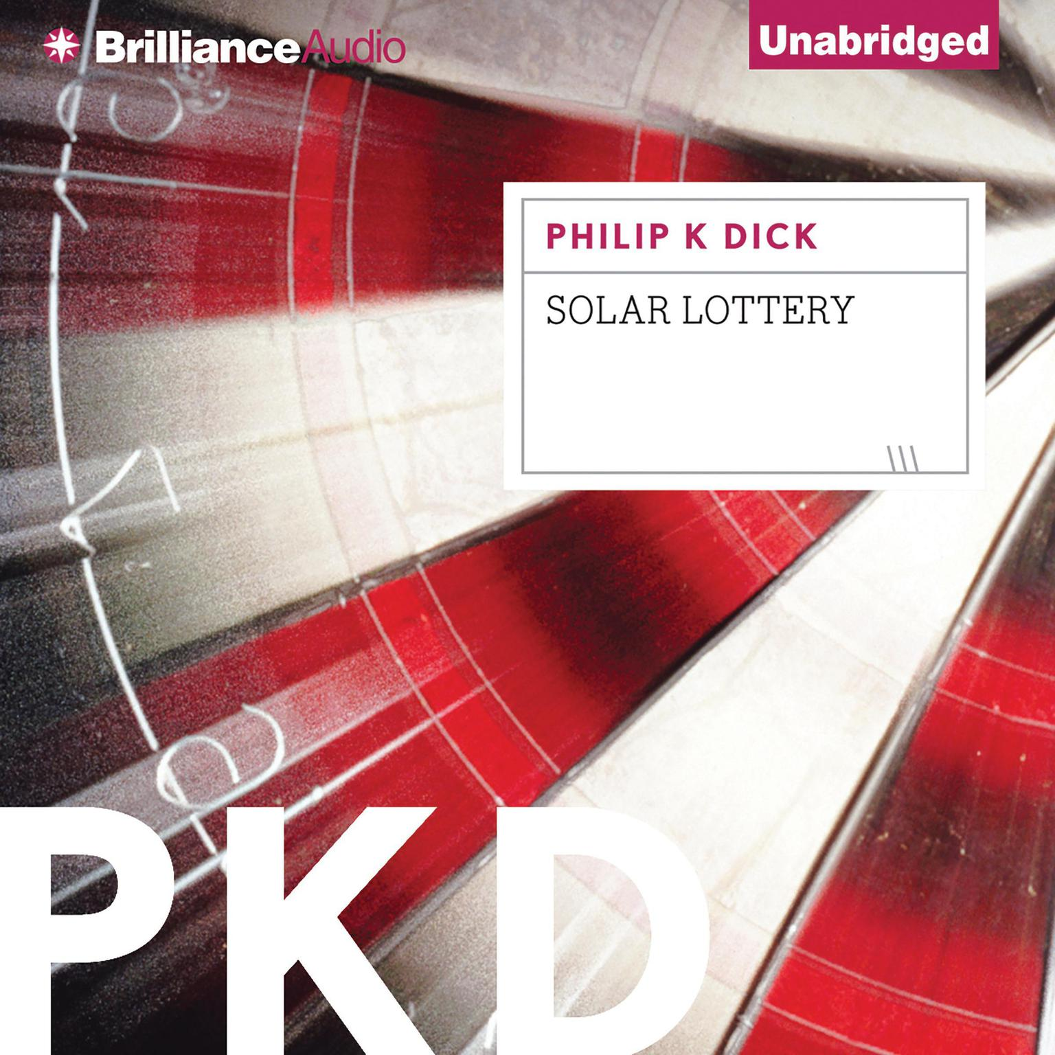 Printable Solar Lottery Audiobook Cover Art