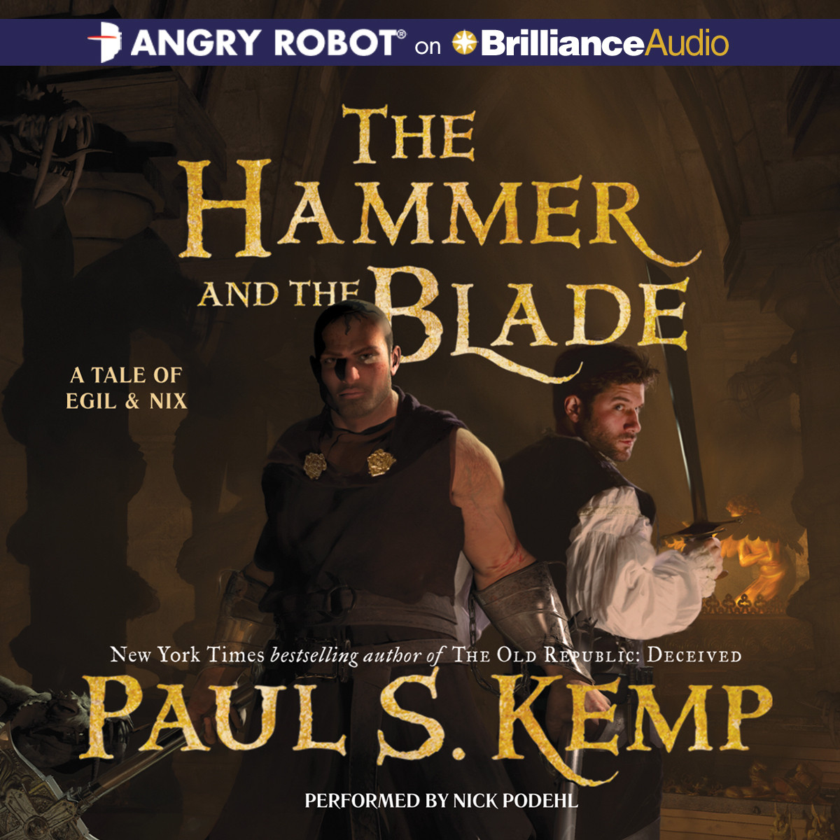 Printable The Hammer and the Blade Audiobook Cover Art