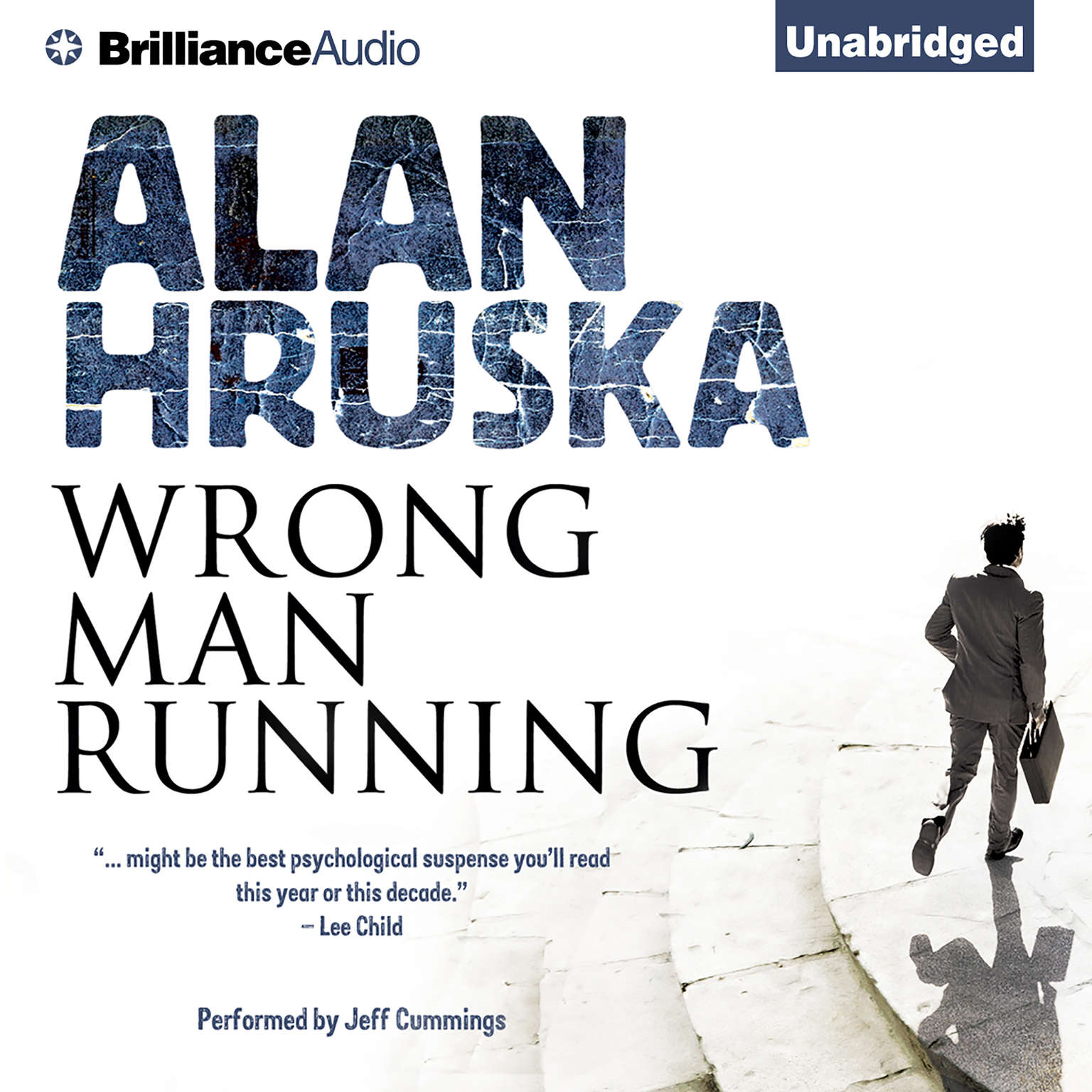Printable Wrong Man Running Audiobook Cover Art