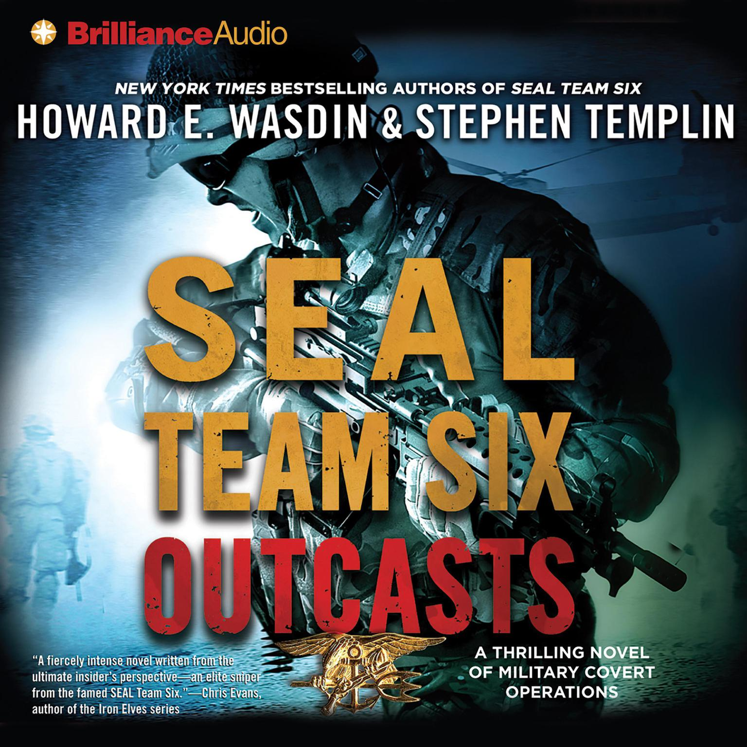 Printable SEAL Team Six Outcasts: A Novel Audiobook Cover Art