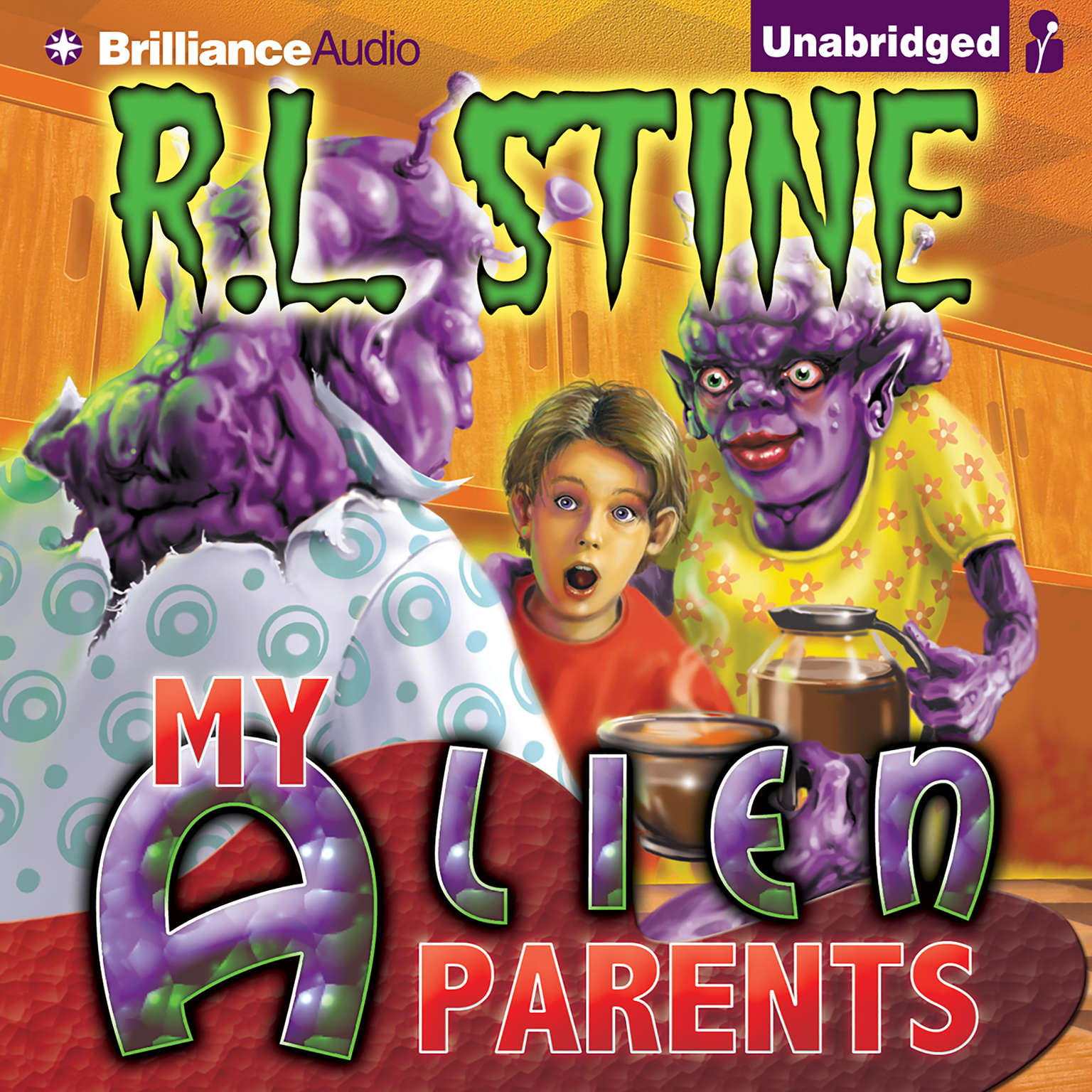 Printable My Alien Parents Audiobook Cover Art