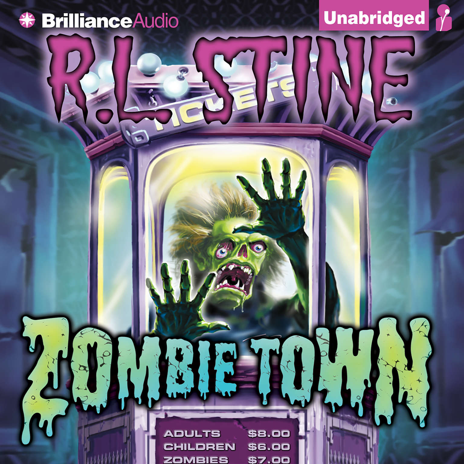 Printable Zombie Town Audiobook Cover Art