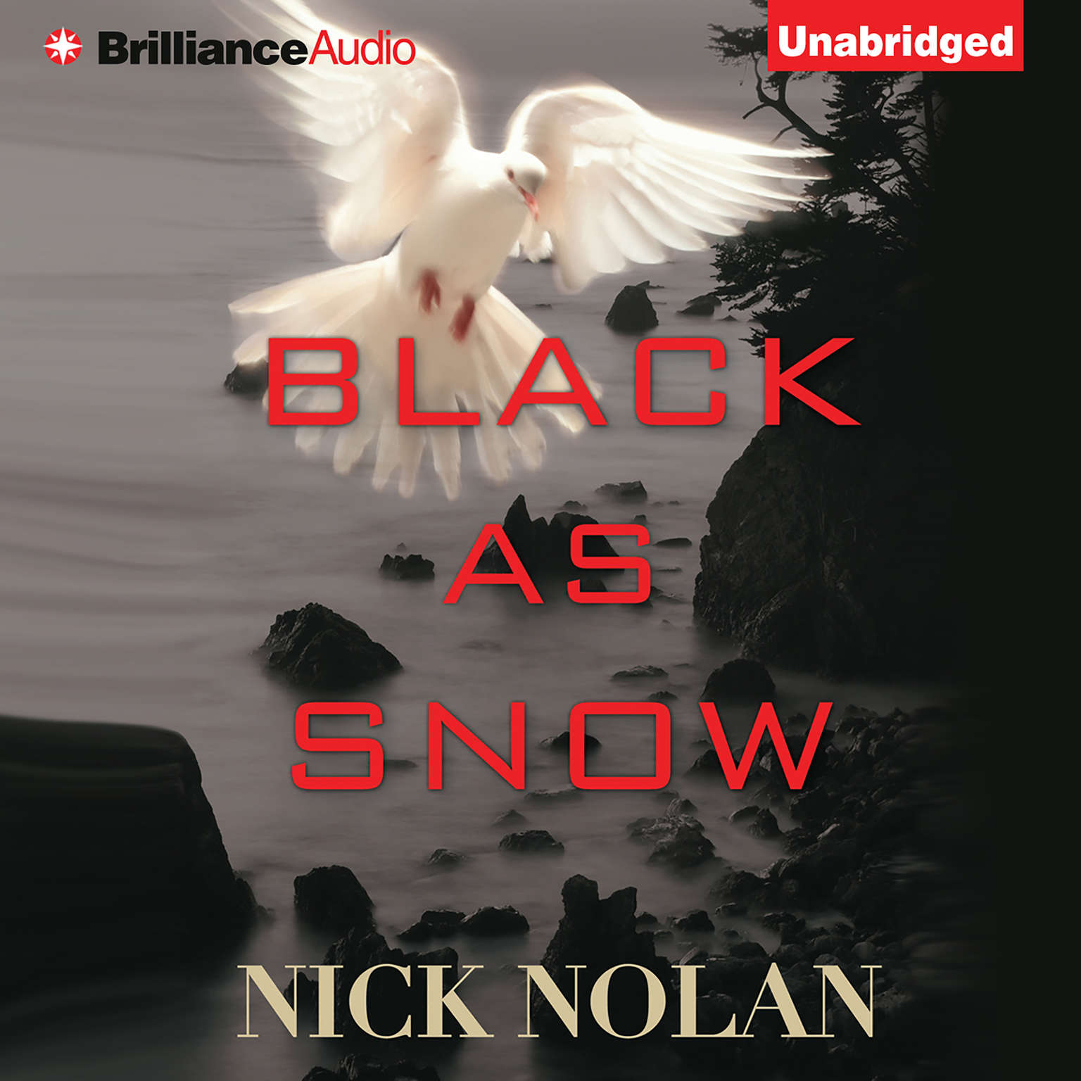 Printable Black As Snow Audiobook Cover Art