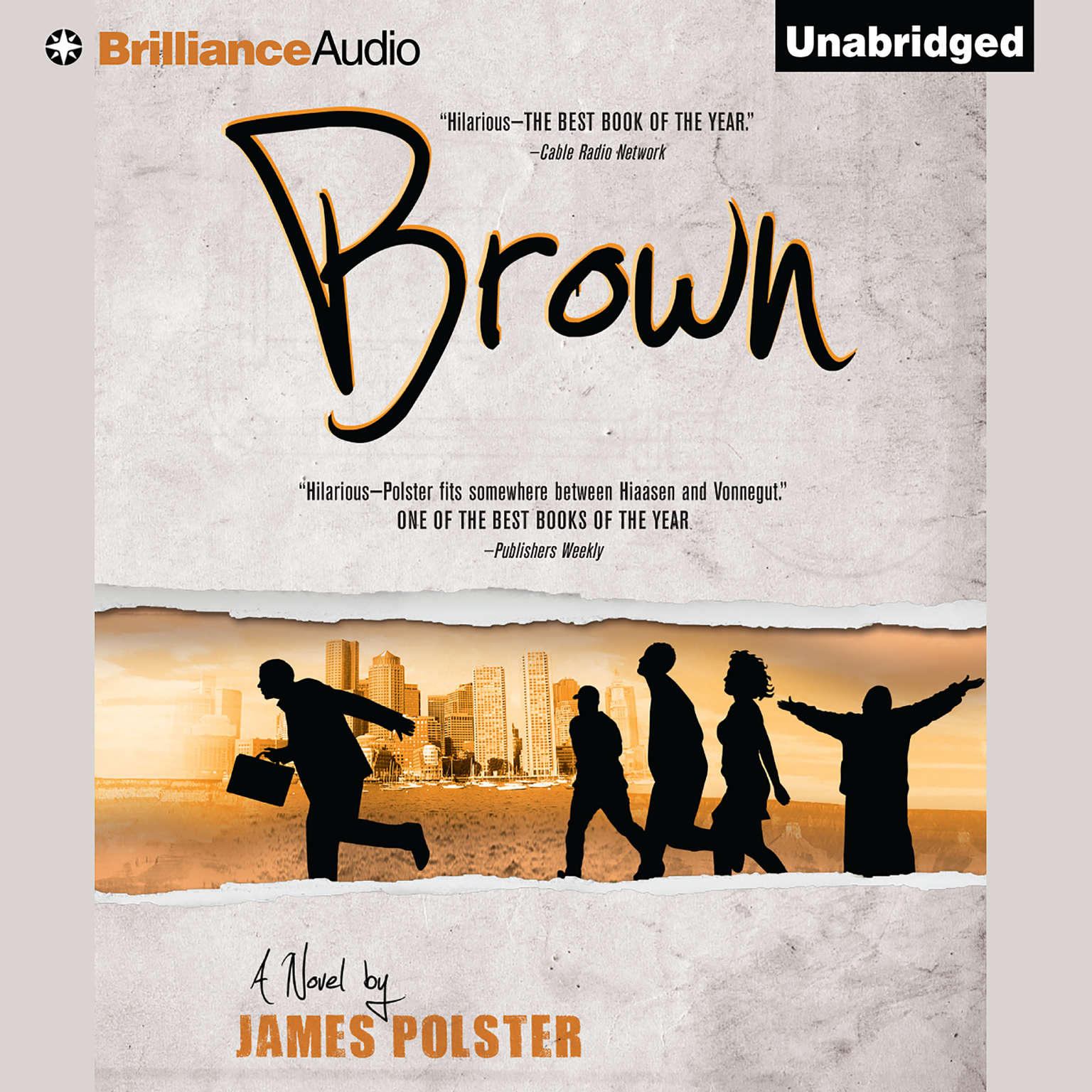 Printable Brown Audiobook Cover Art