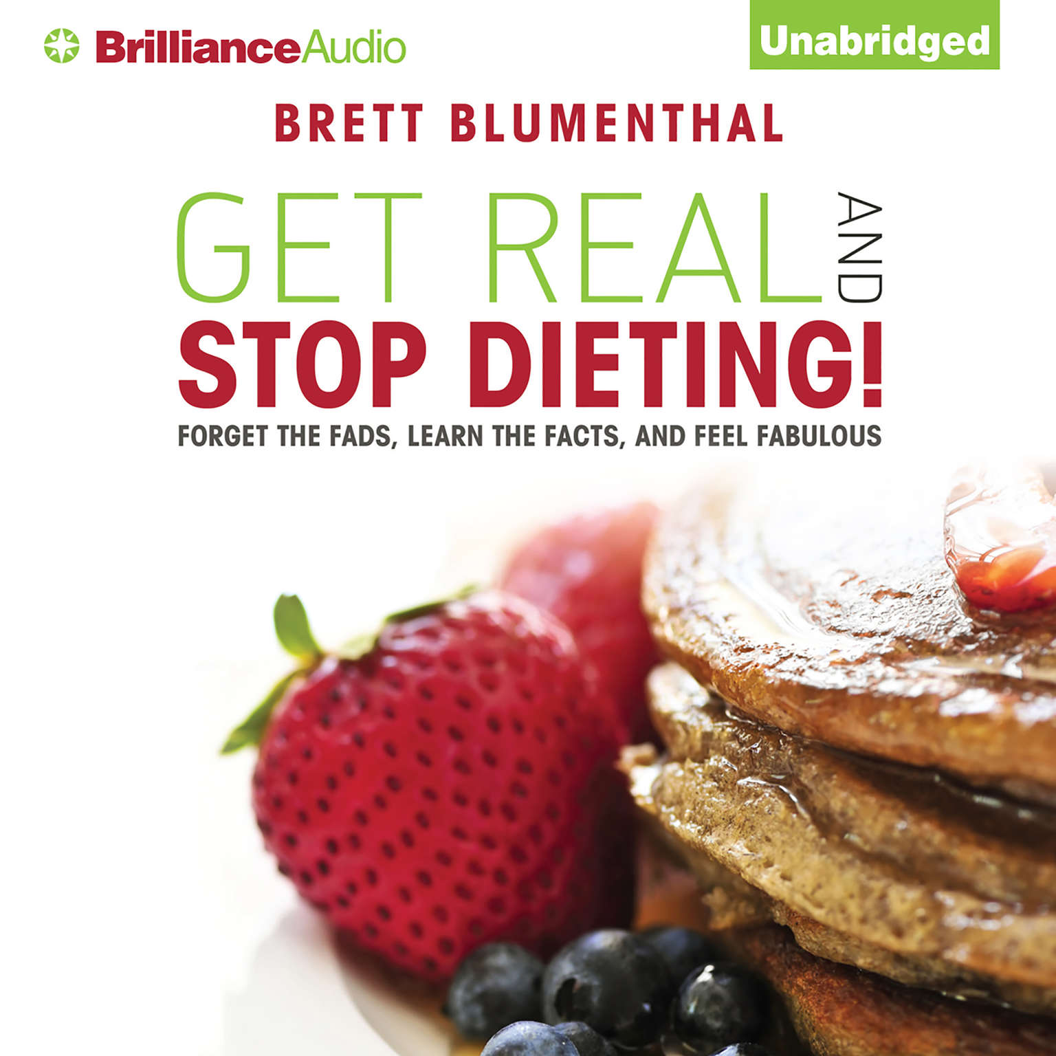 Printable Get Real and Stop Dieting! Audiobook Cover Art