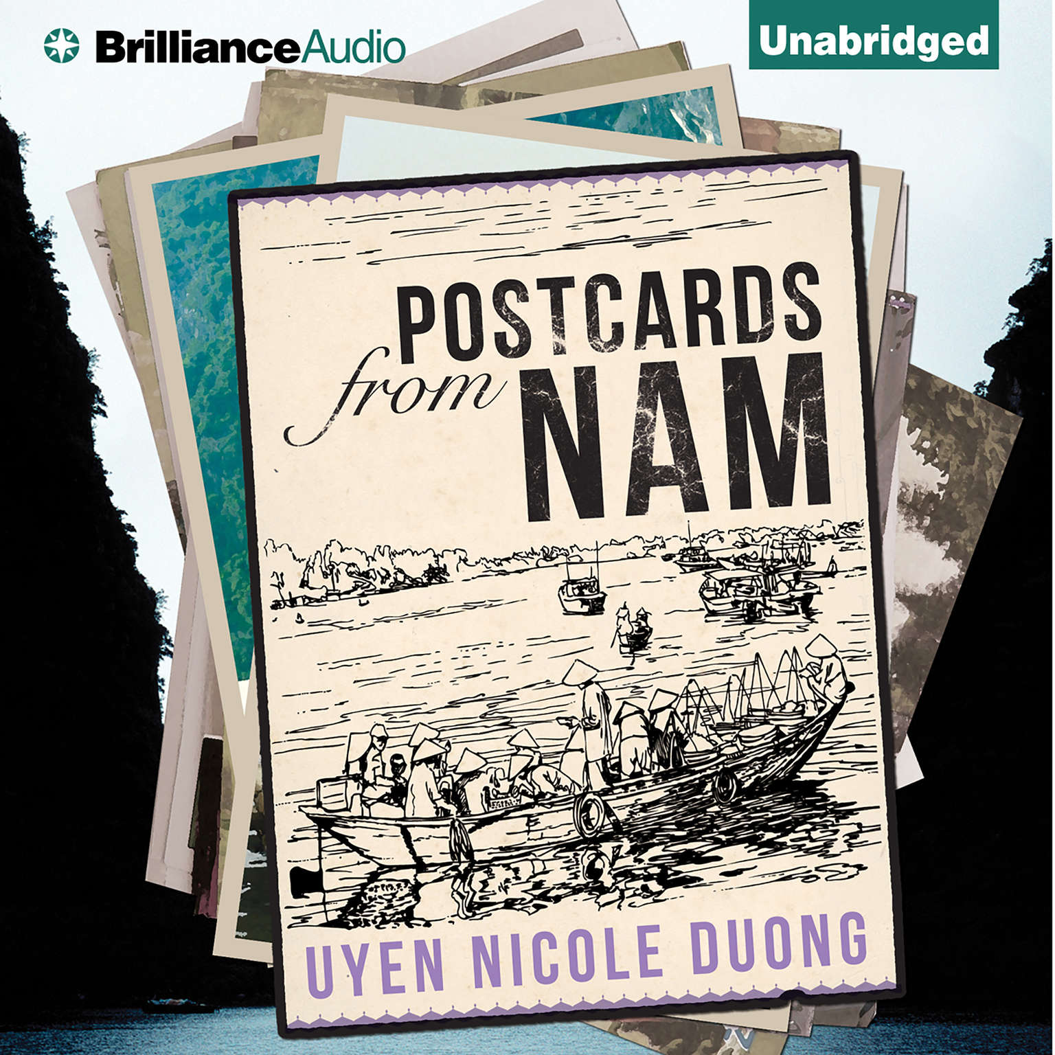 Printable Postcards From Nam Audiobook Cover Art