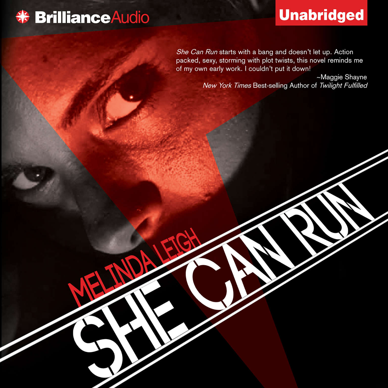 Printable She Can Run Audiobook Cover Art