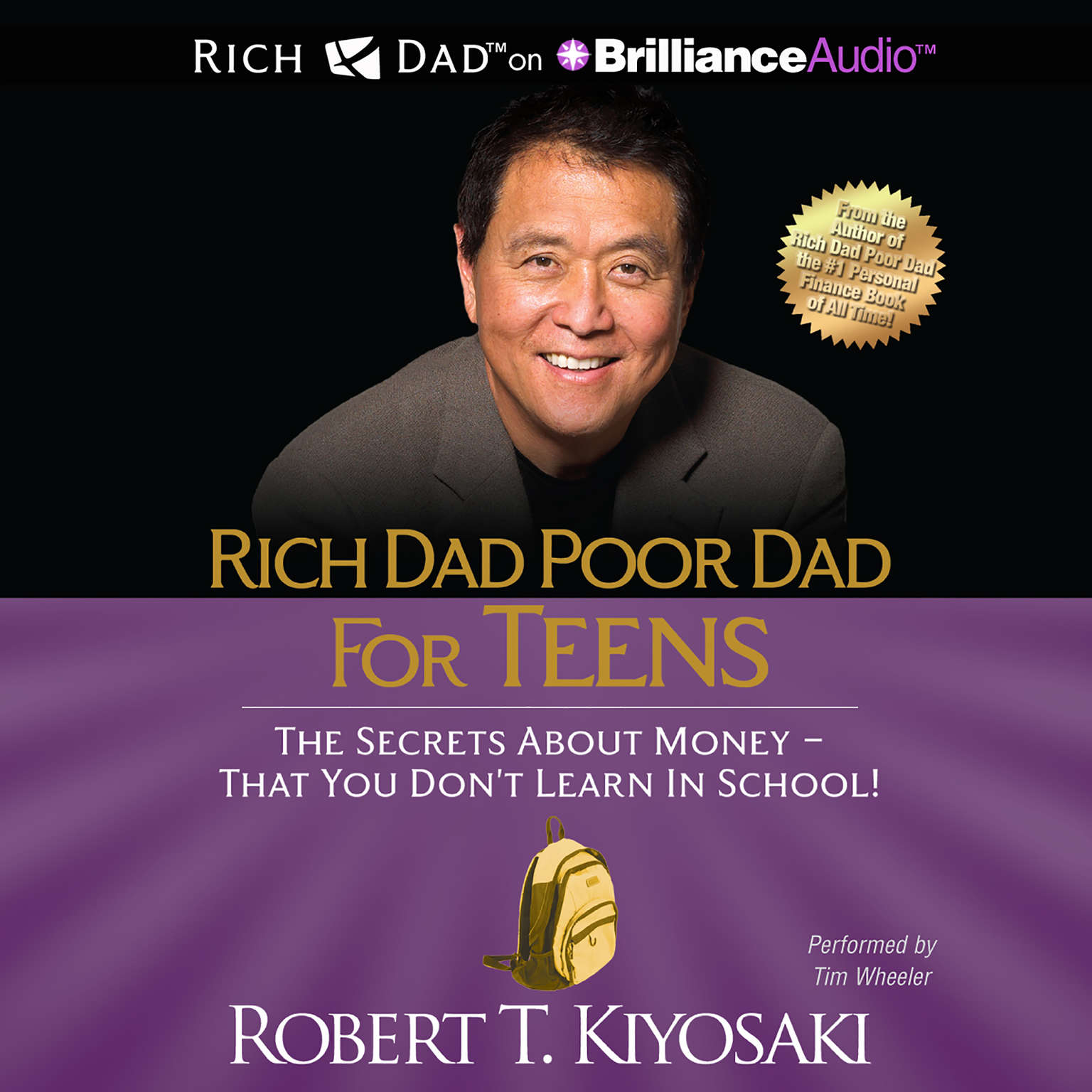 Printable Rich Dad Poor Dad for Teens: The Secrets about Money - That You Don't Learn in School Audiobook Cover Art