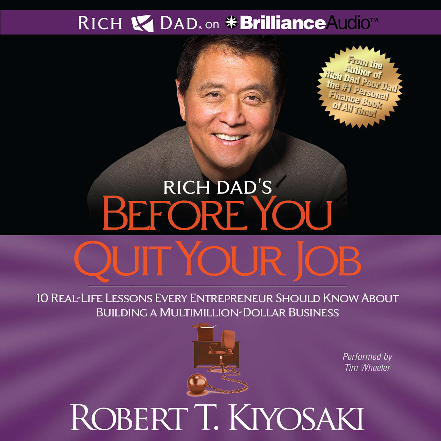 Printable Rich Dad's Before You Quit Your Job: 10 Real-Life Lessons Every Entrepreneur Should Know About Building a Multimillion-Dollar Business Audiobook Cover Art