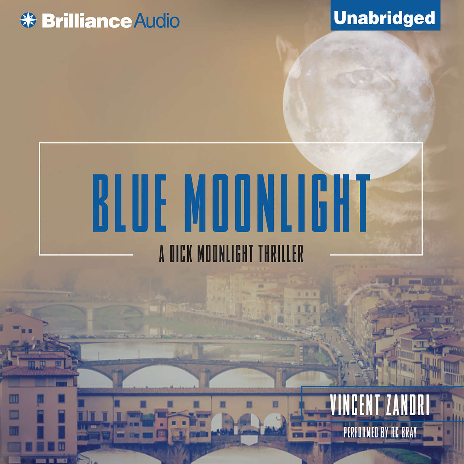 Printable Blue Moonlight Audiobook Cover Art