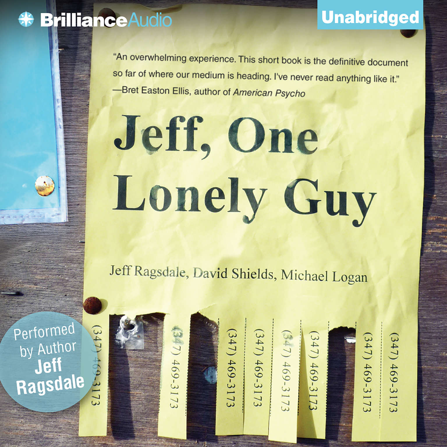 Printable Jeff, One Lonely Guy Audiobook Cover Art