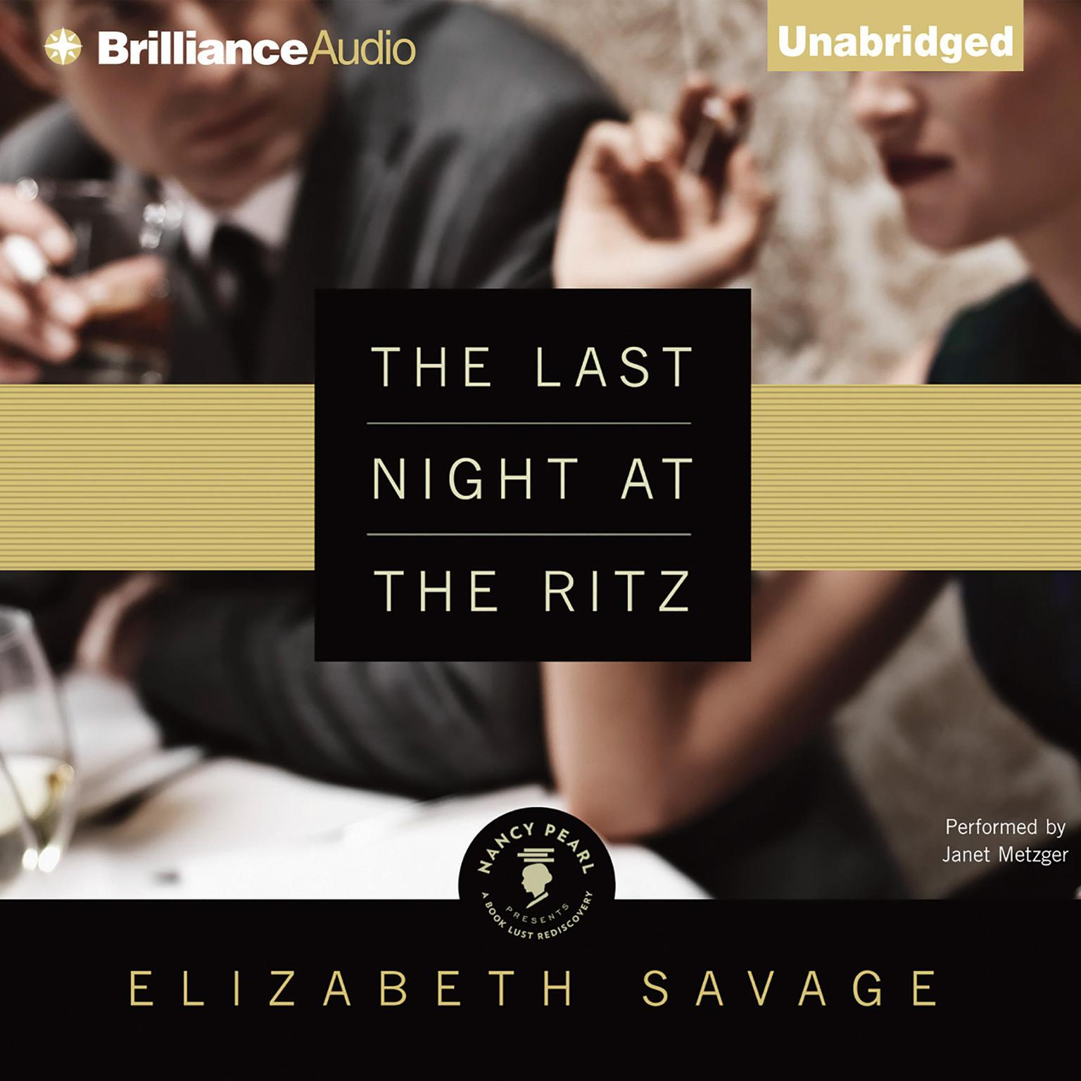 Printable The Last Night at the Ritz Audiobook Cover Art