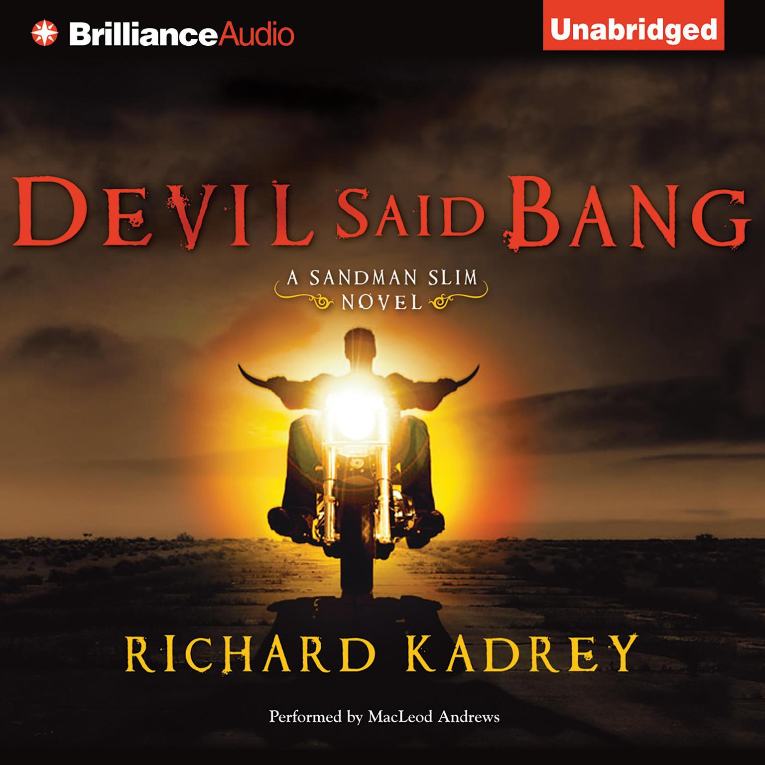 Printable Devil Said Bang Audiobook Cover Art
