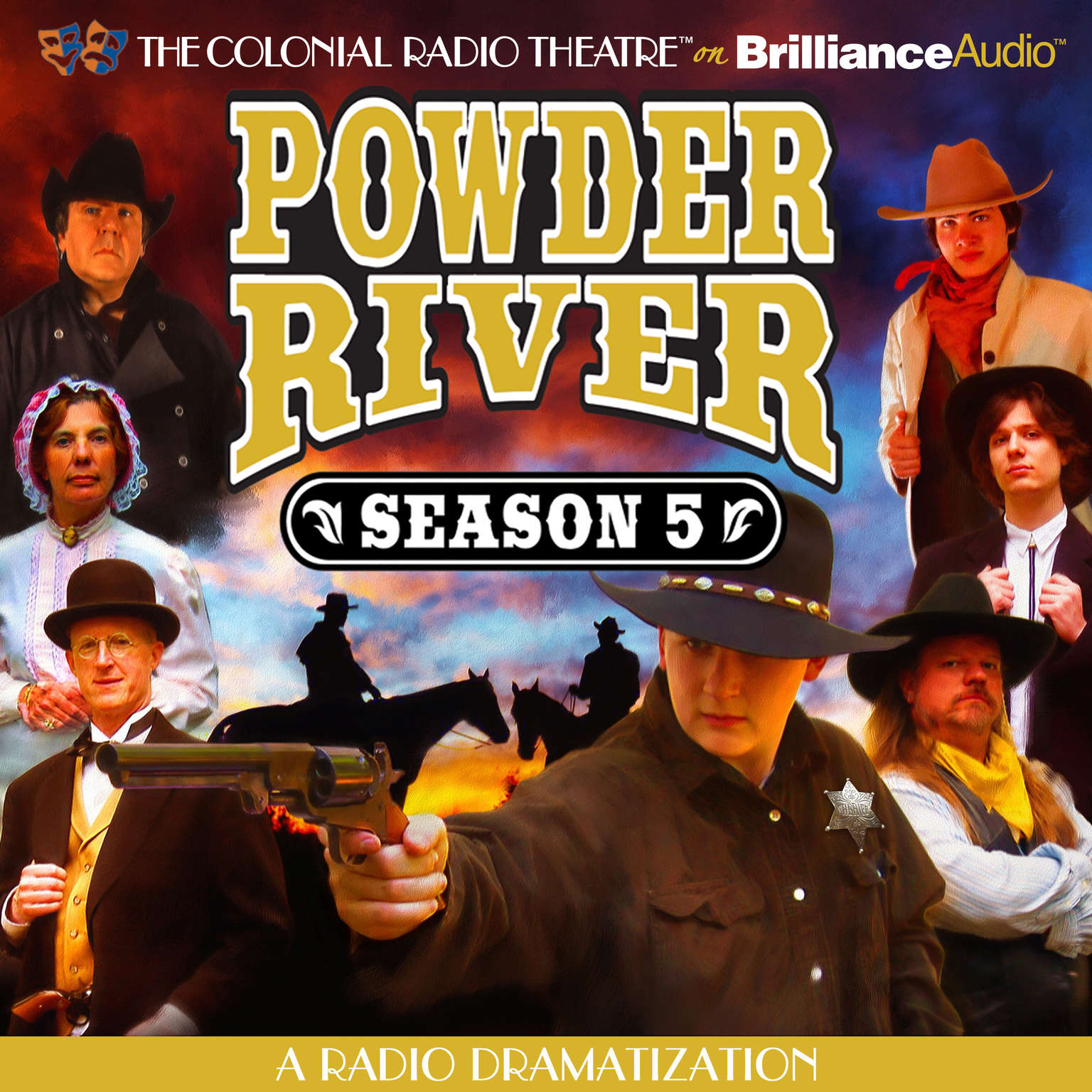 Printable Powder River, Season Five: A Radio Dramatization Audiobook Cover Art
