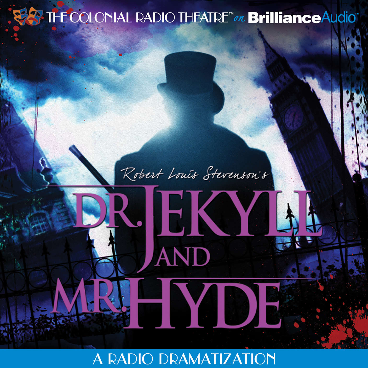 Printable Robert Louis Stevenson's Dr. Jekyll and Mr. Hyde Audiobook Cover Art