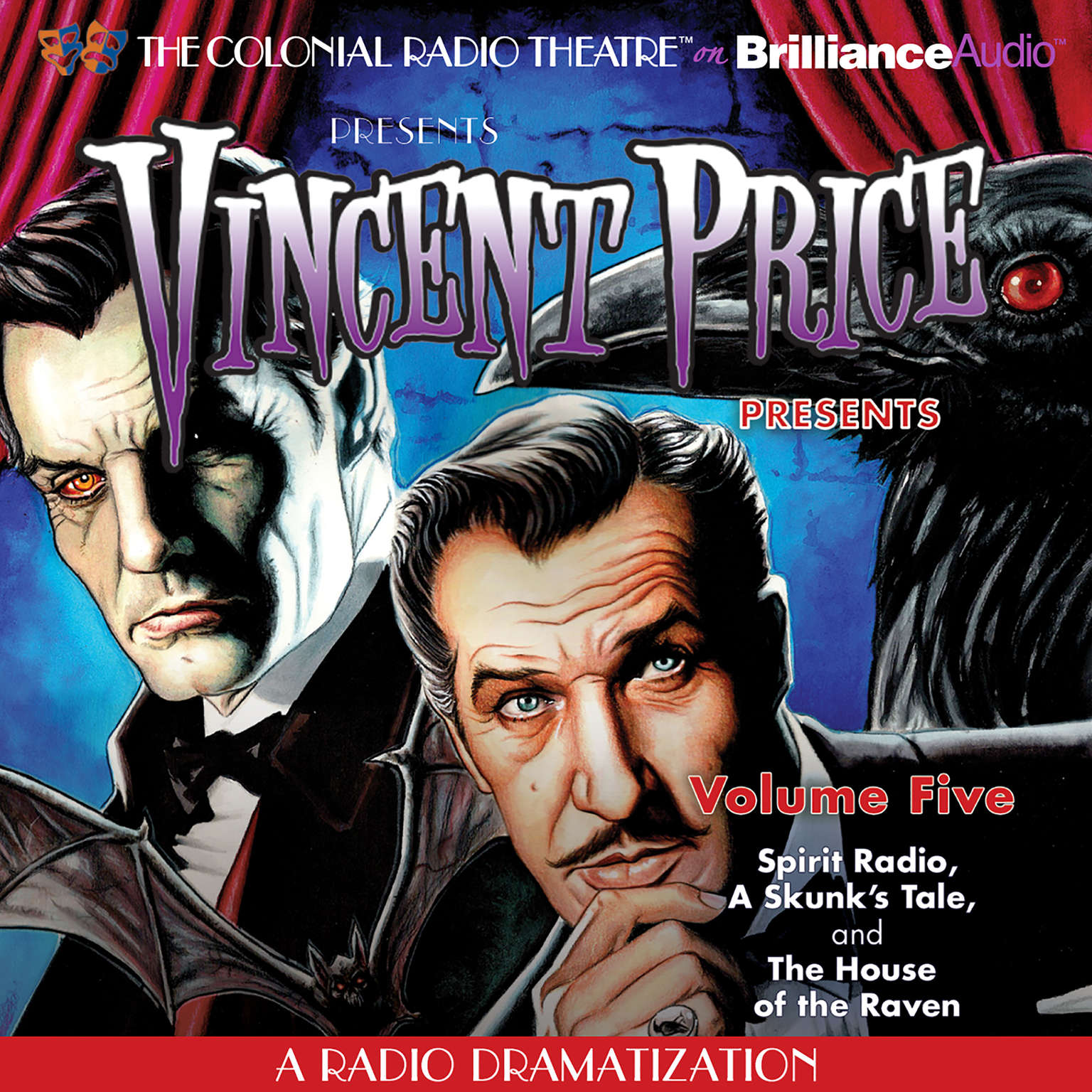 Printable Vincent Price Presents, Vol. 5: Three Radio Dramatizations Audiobook Cover Art