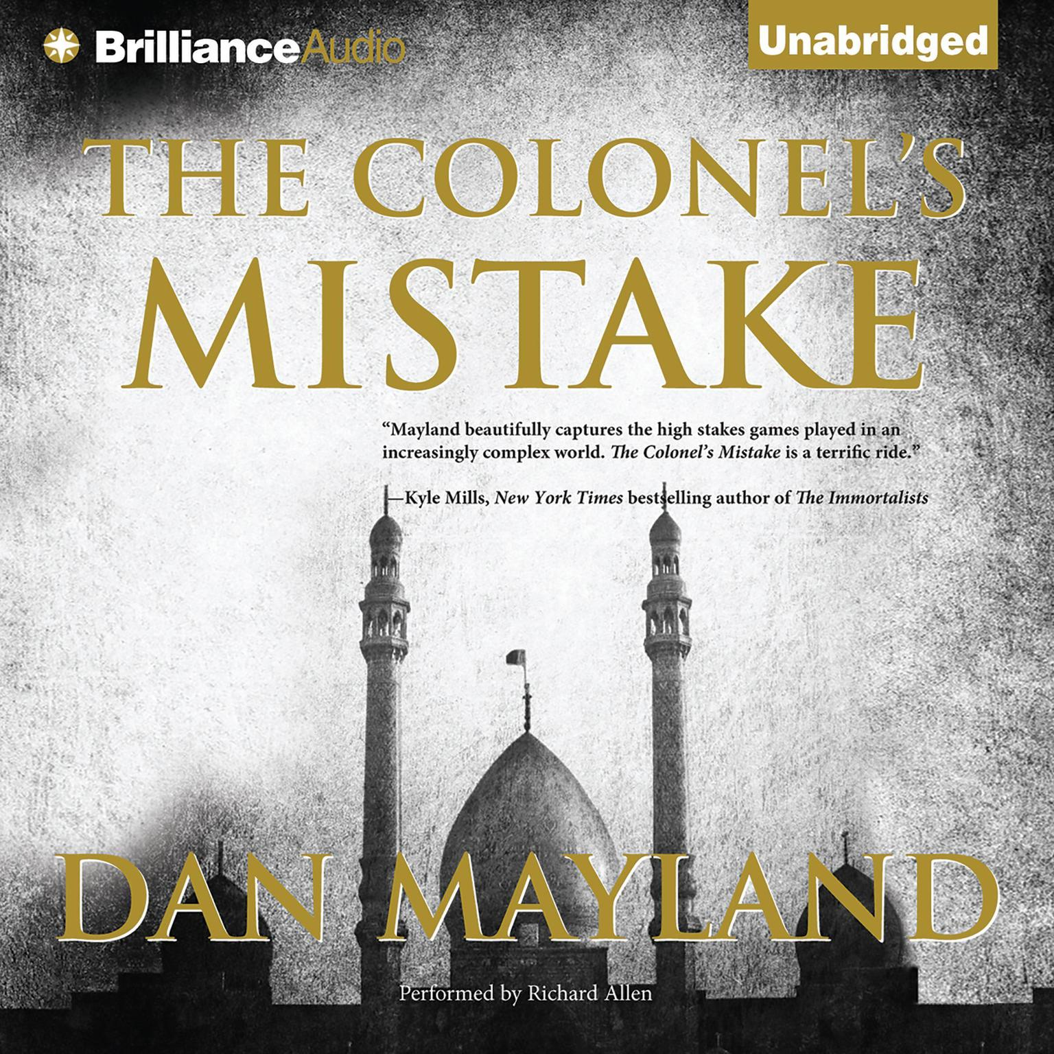 Printable The Colonel's Mistake Audiobook Cover Art