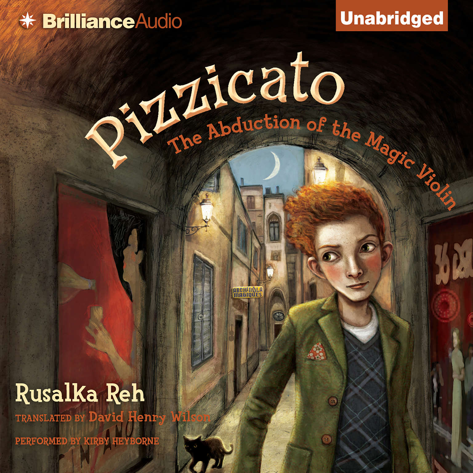 Printable Pizzicato: The Abduction of the Magic Violin Audiobook Cover Art