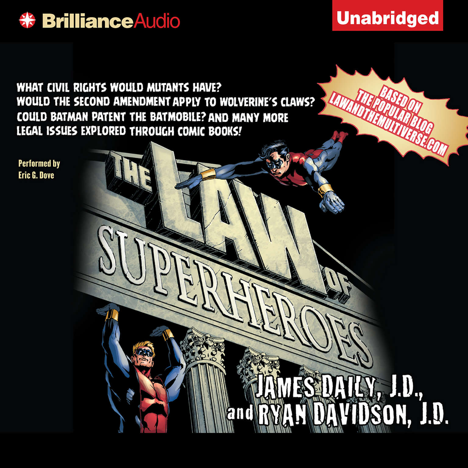 Printable The Law of Superheroes Audiobook Cover Art