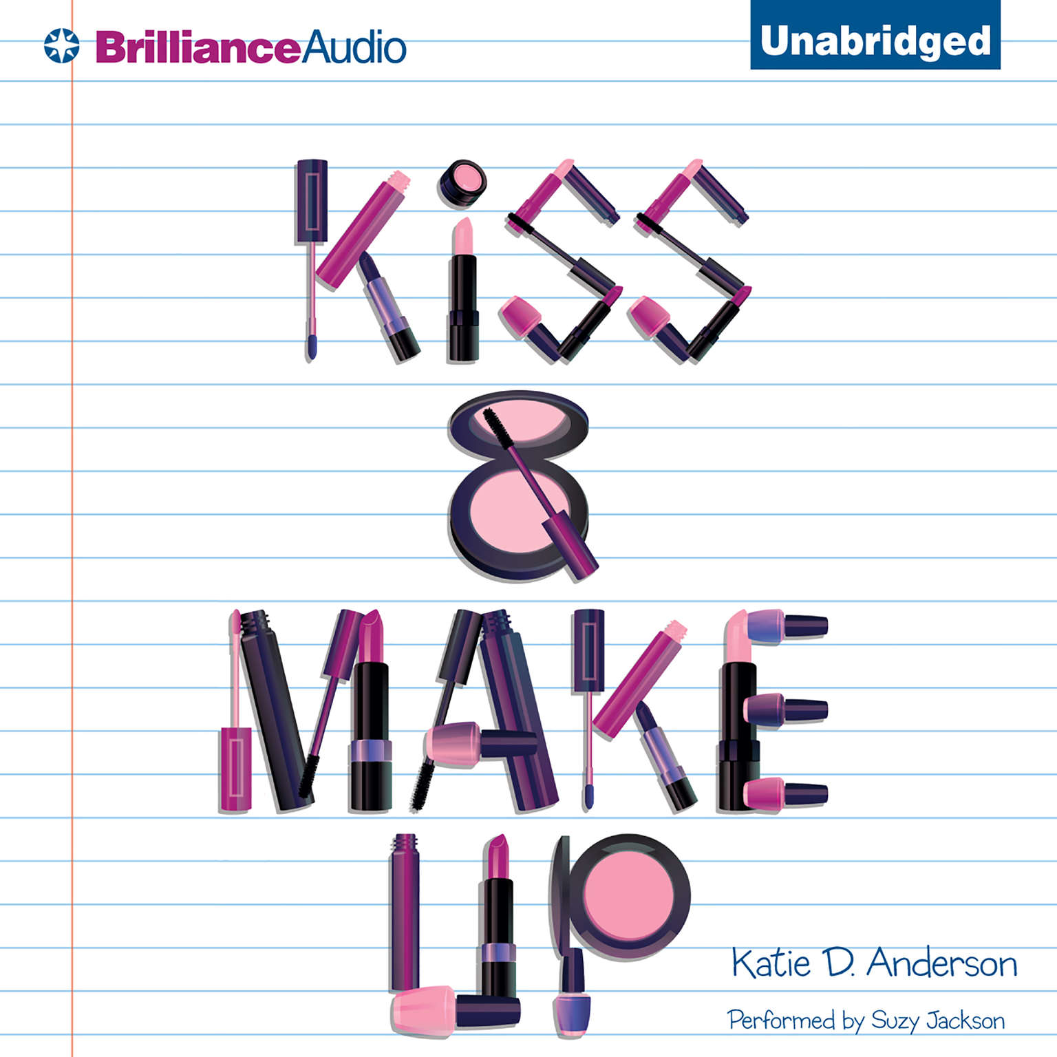 Printable Kiss & Make Up Audiobook Cover Art