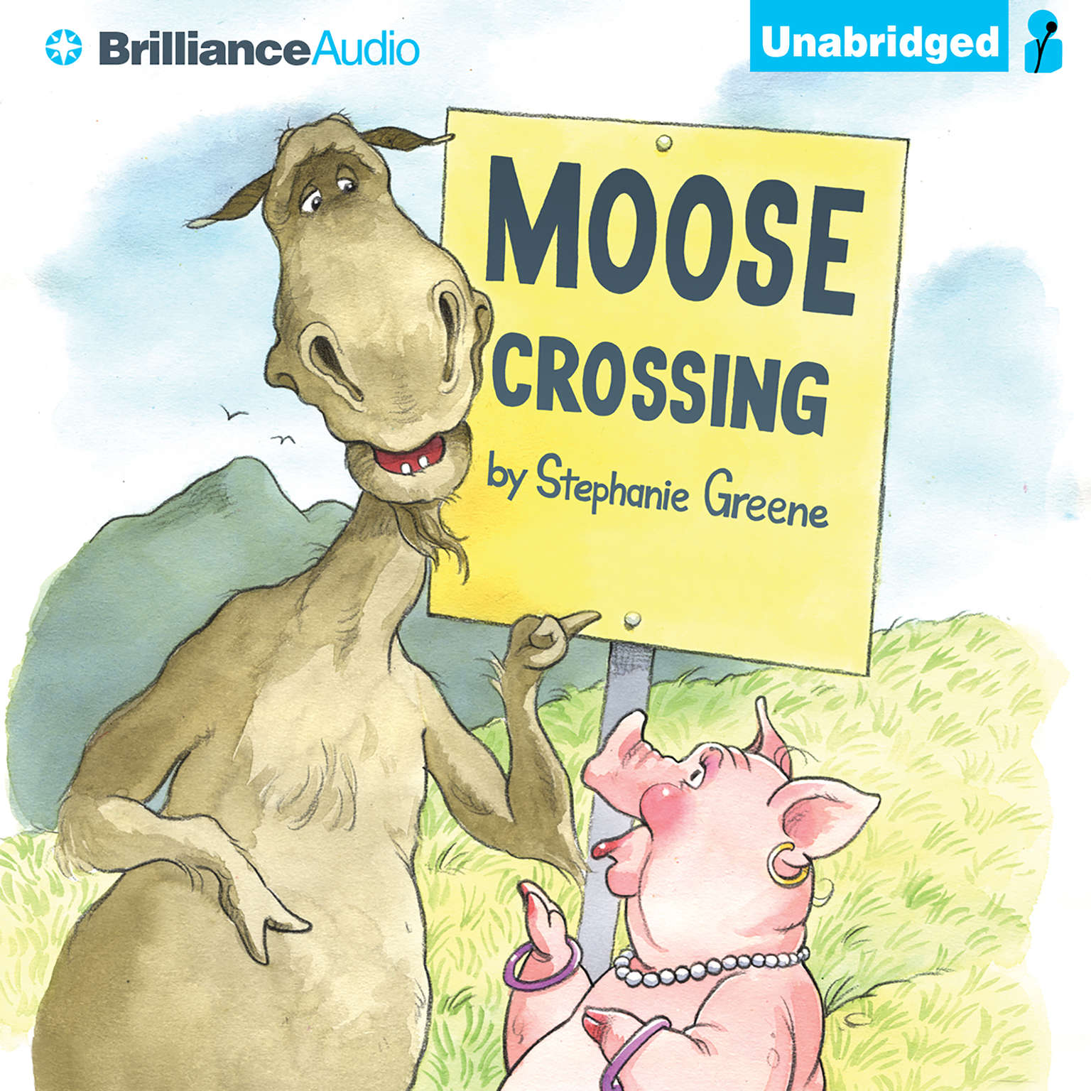 Printable Moose Crossing Audiobook Cover Art