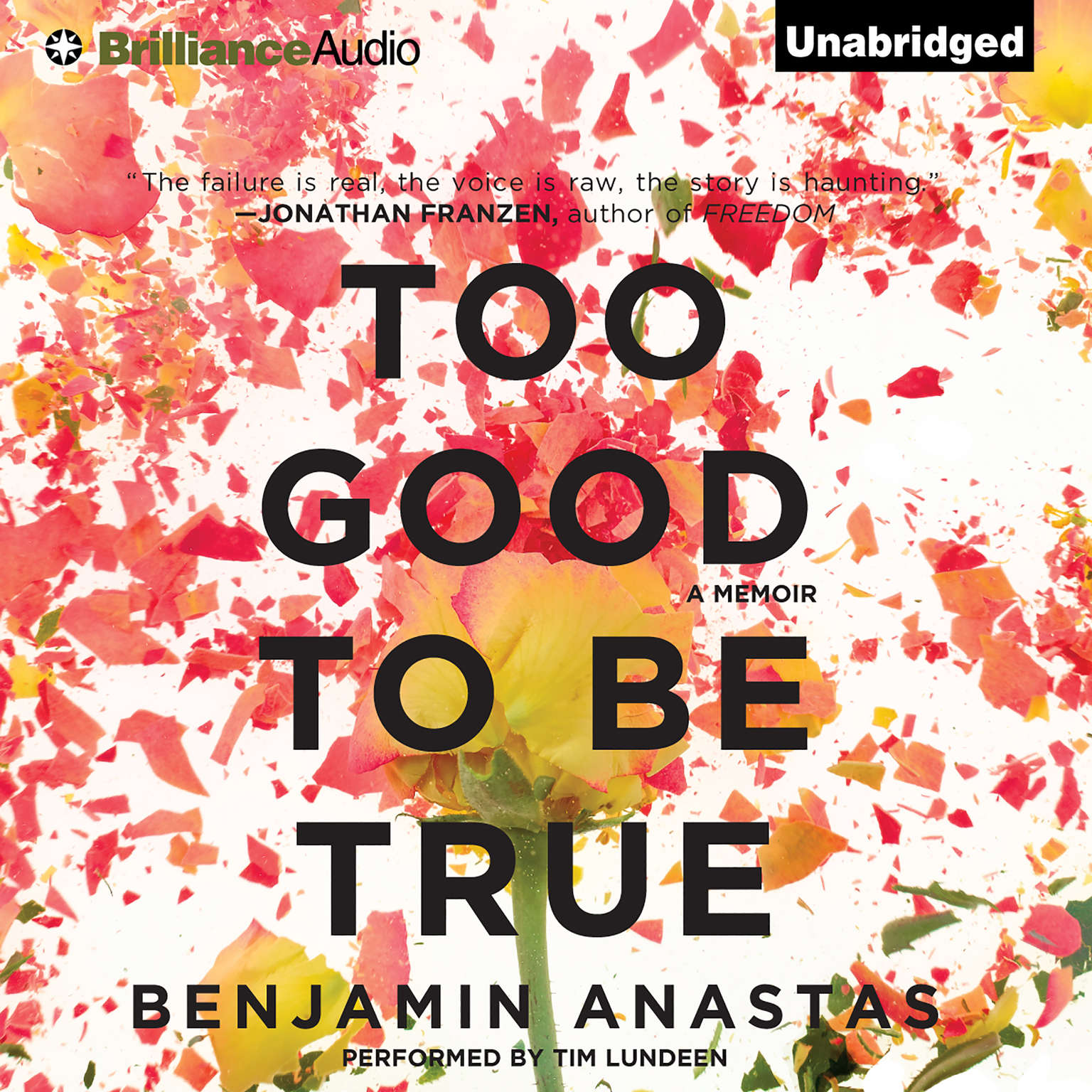 Printable Too Good to Be True: A Memoir Audiobook Cover Art