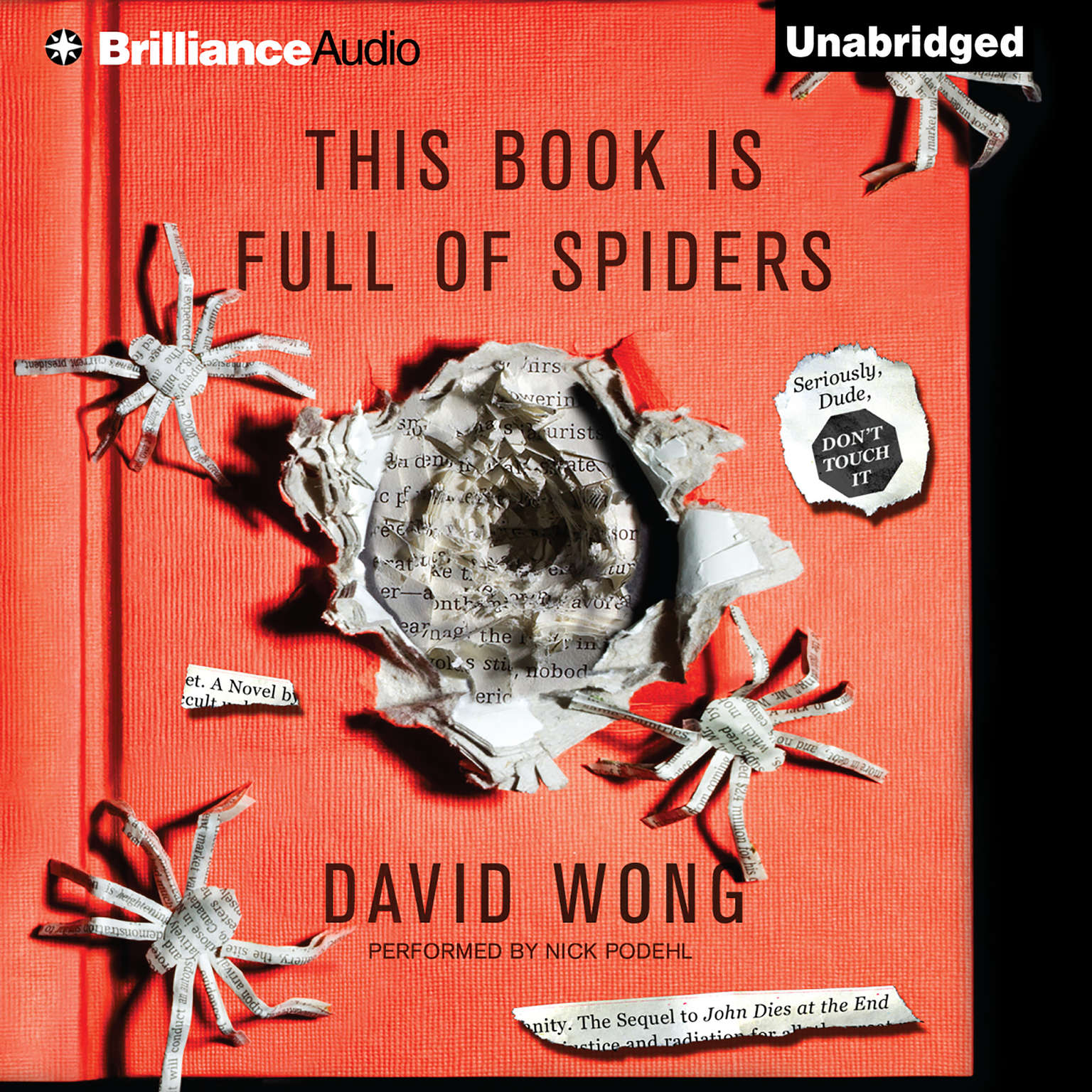 Printable This Book is Full of Spiders: Seriously, Dude, Don't Touch It Audiobook Cover Art
