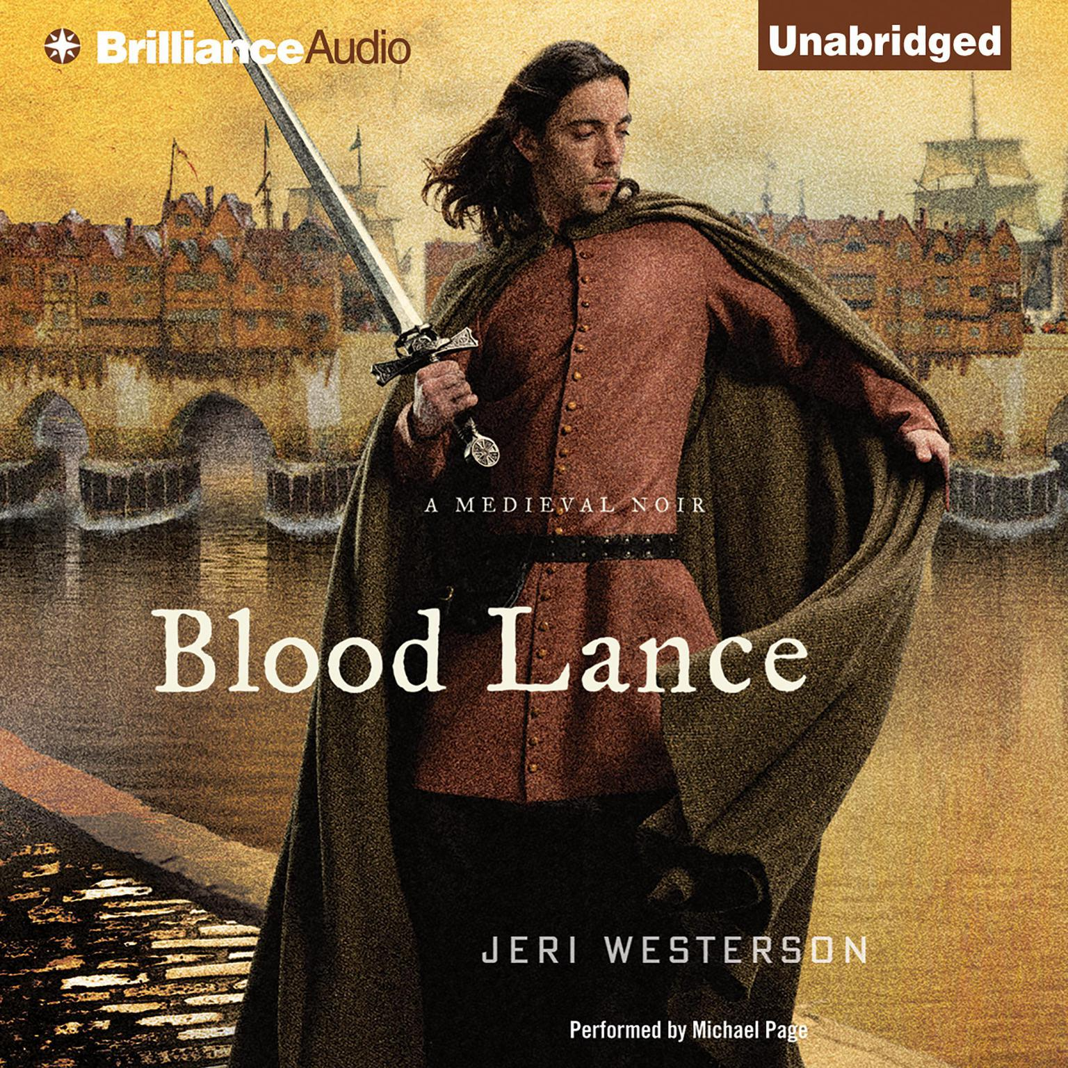 Printable Blood Lance: A Medieval Noir Audiobook Cover Art