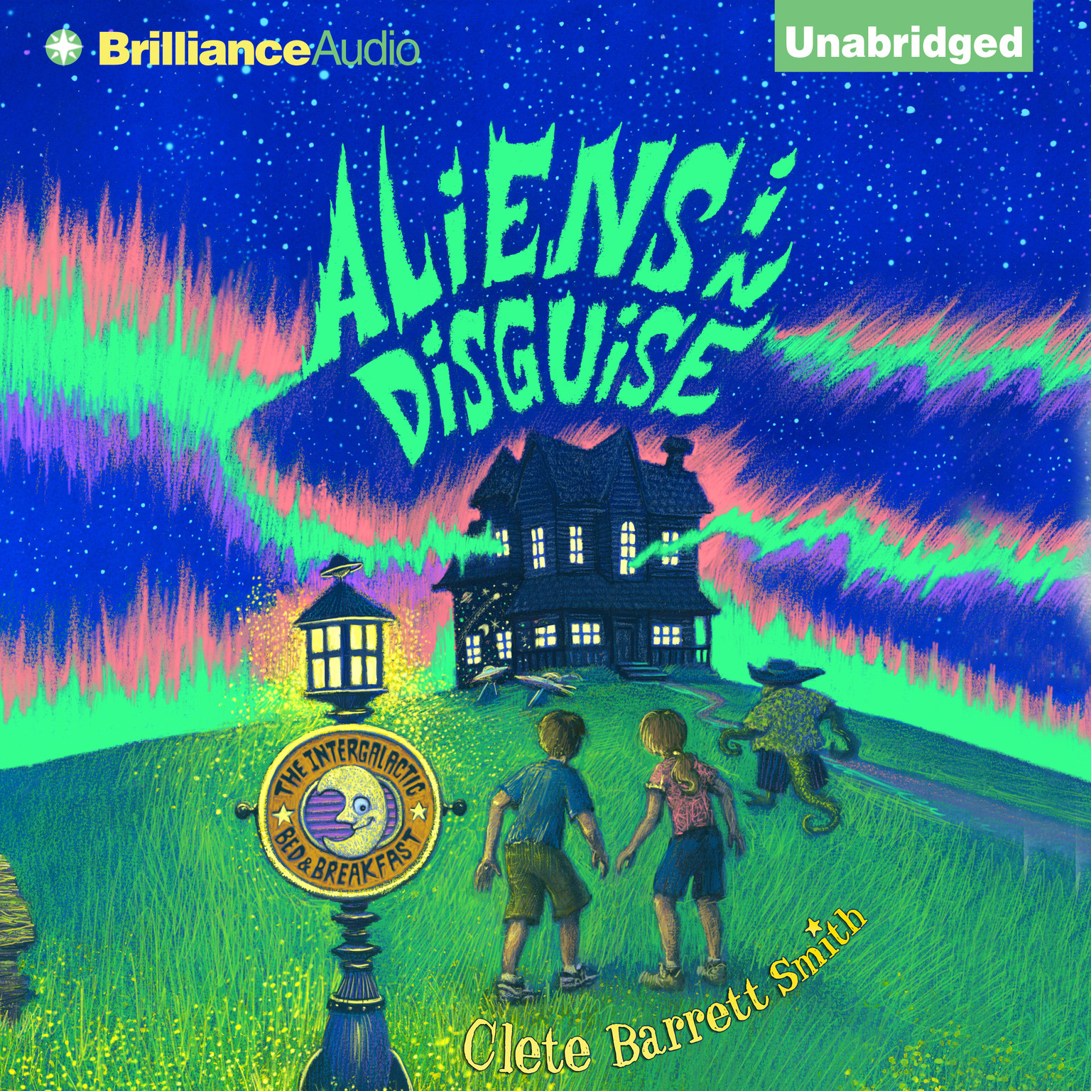Printable Aliens in Disguise Audiobook Cover Art